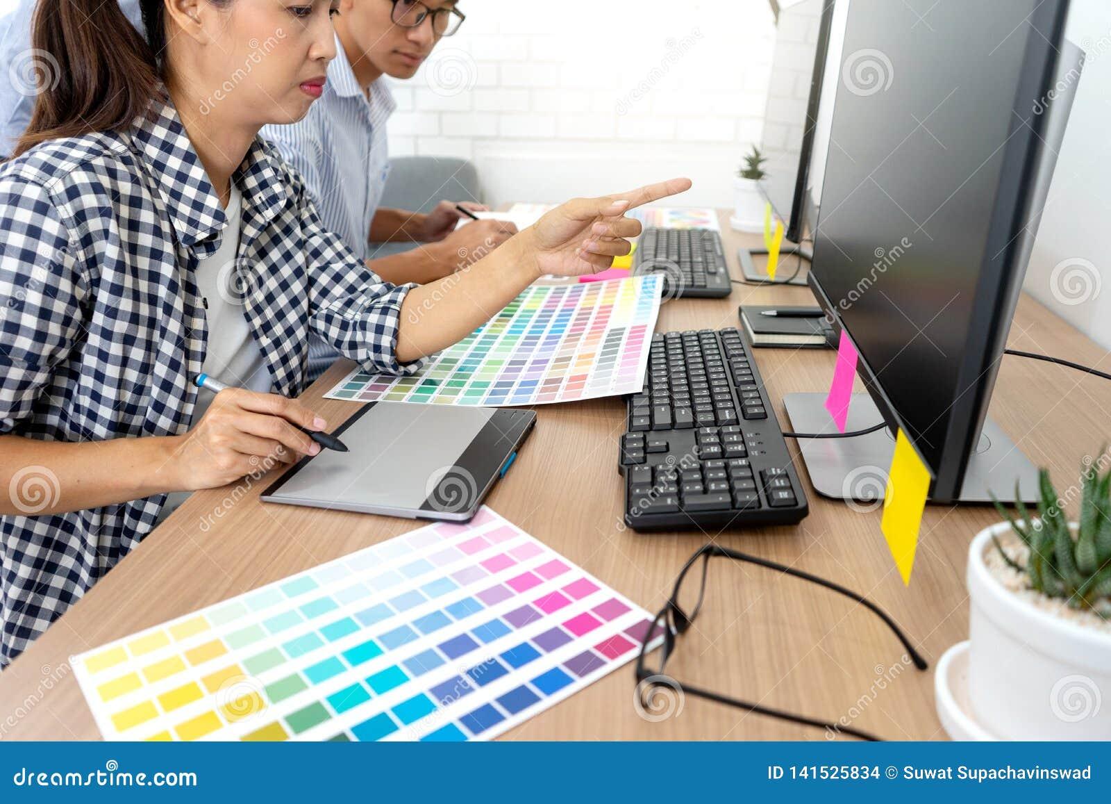 图形设计的团队工作