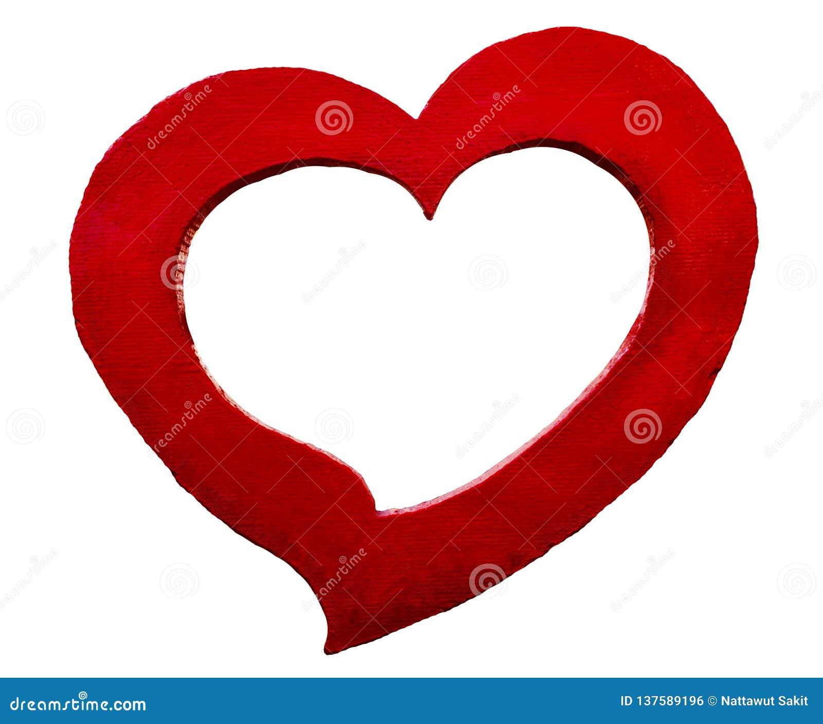 图形设计的红色心形的具体框架