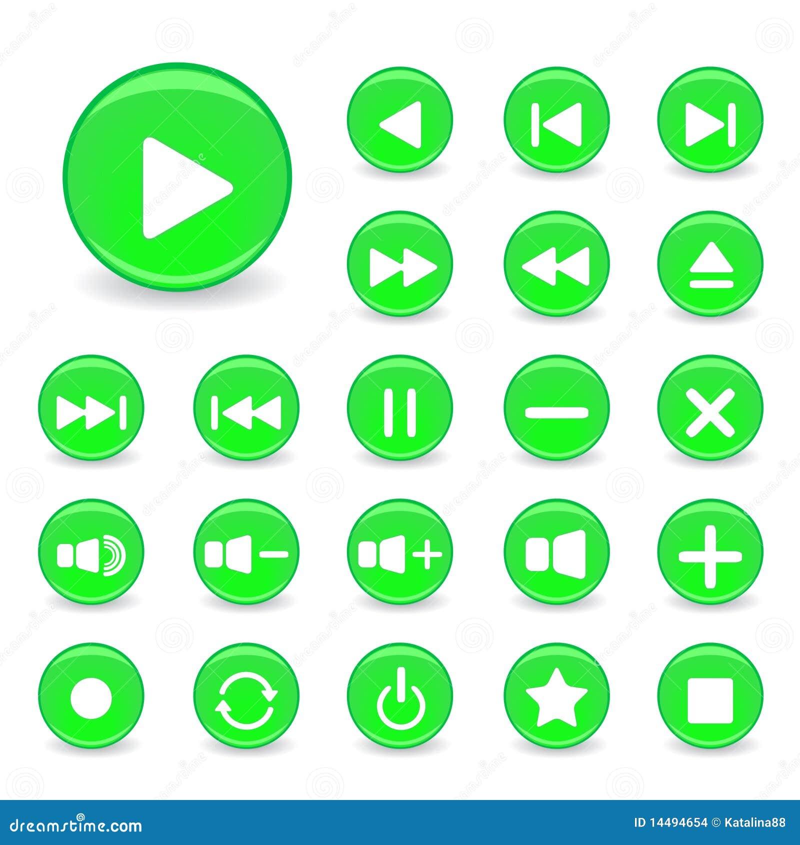 按钮绿色图标媒体播放器白色.图片