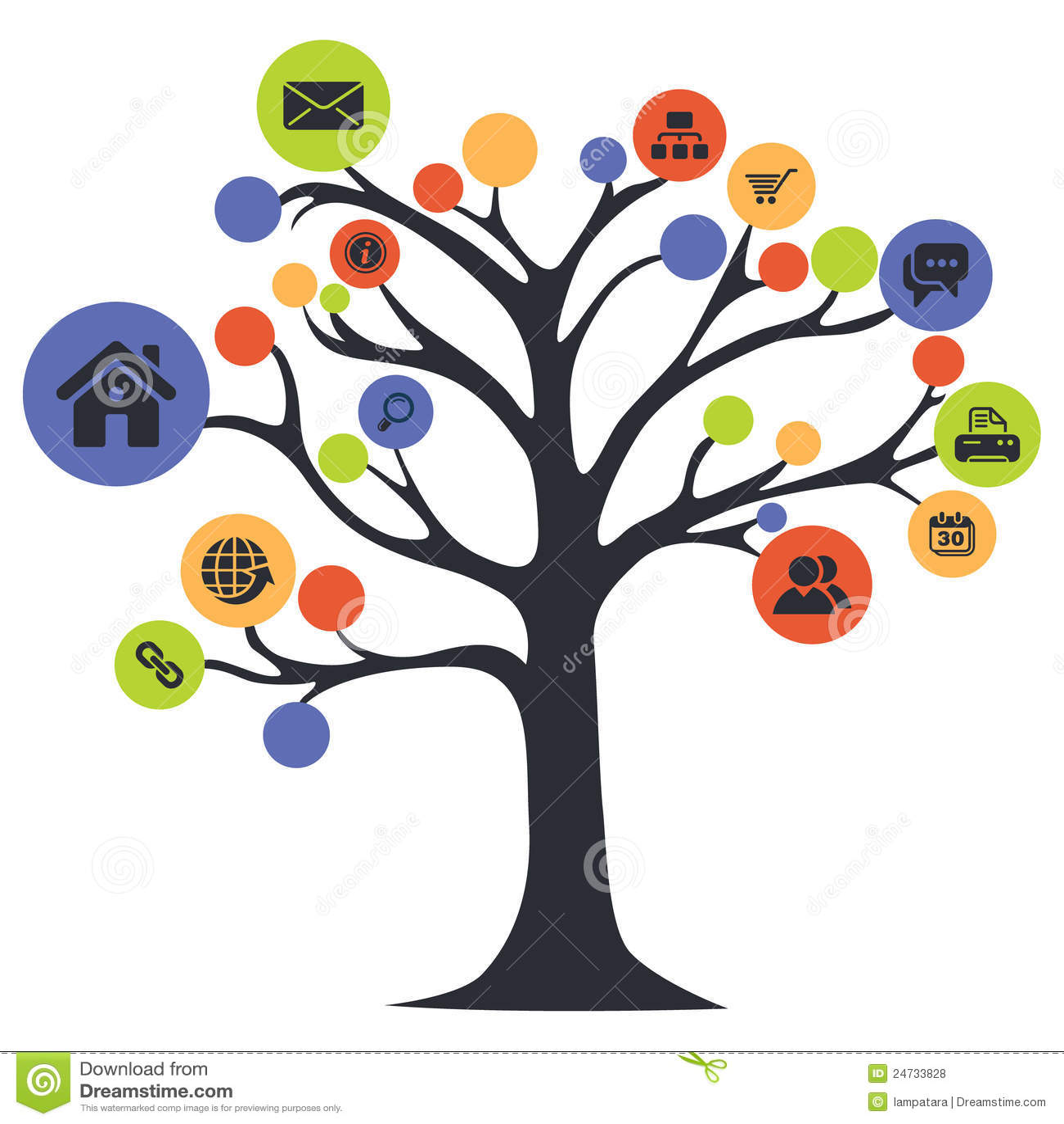 图标结构树万维网