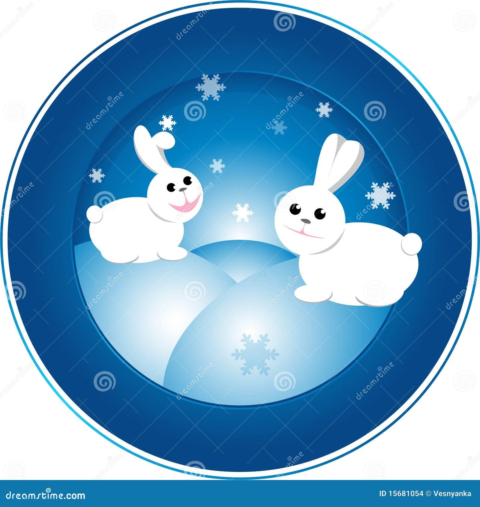 图画兔子向量xmas