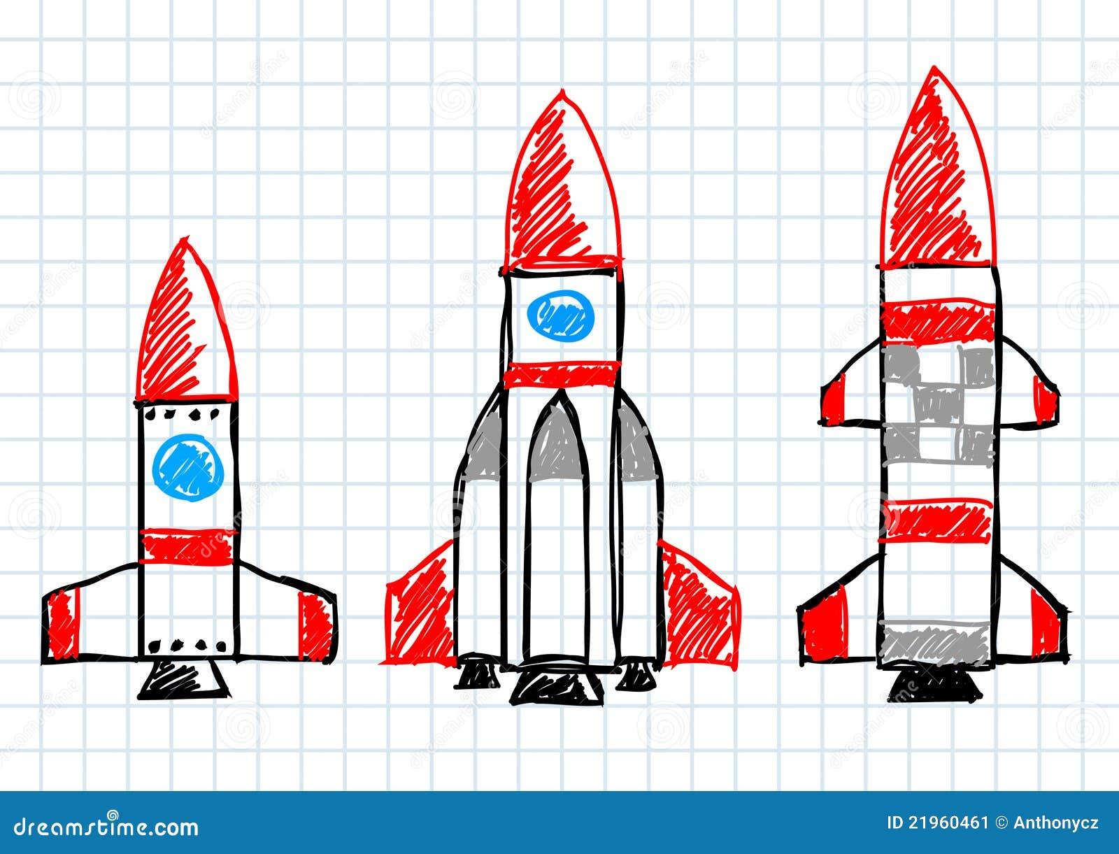 图画火箭图片