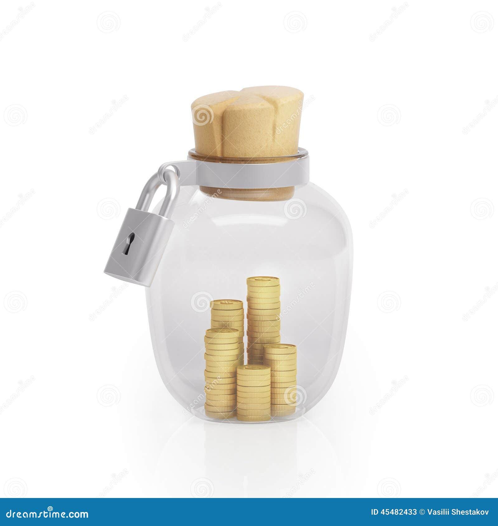 图表例证象玻璃瓶子