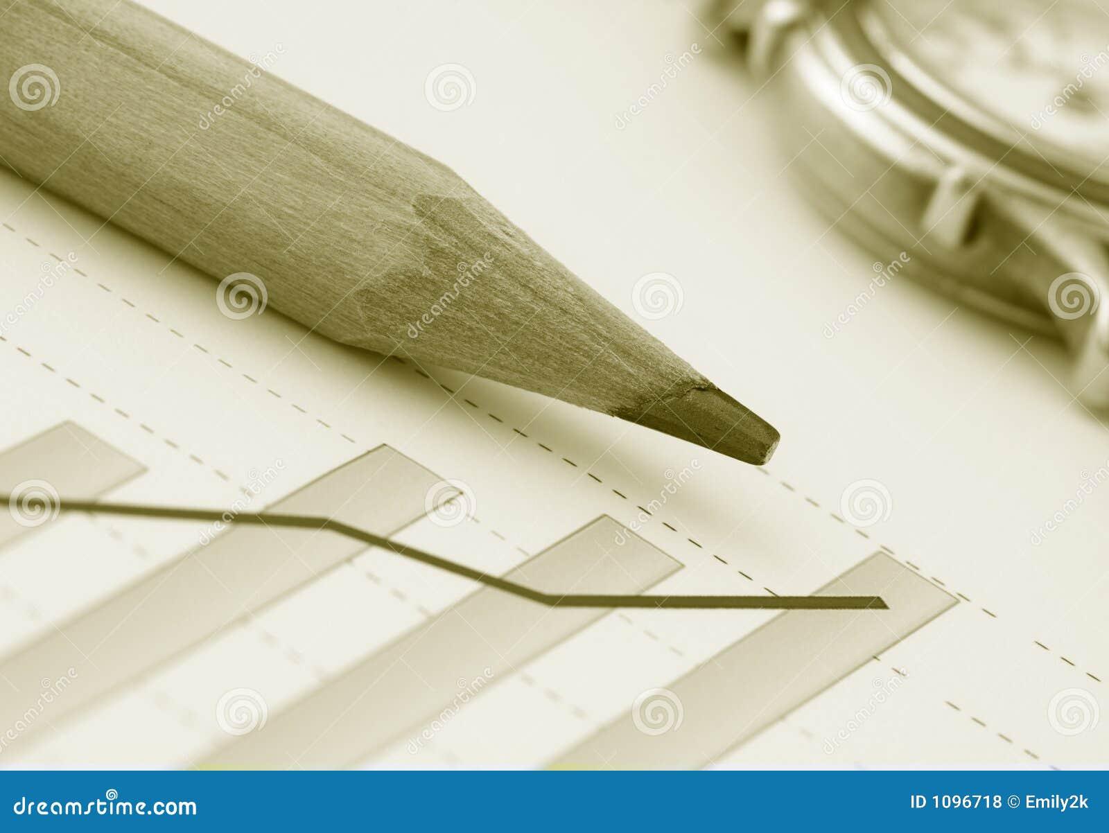 图表收益铅笔正y