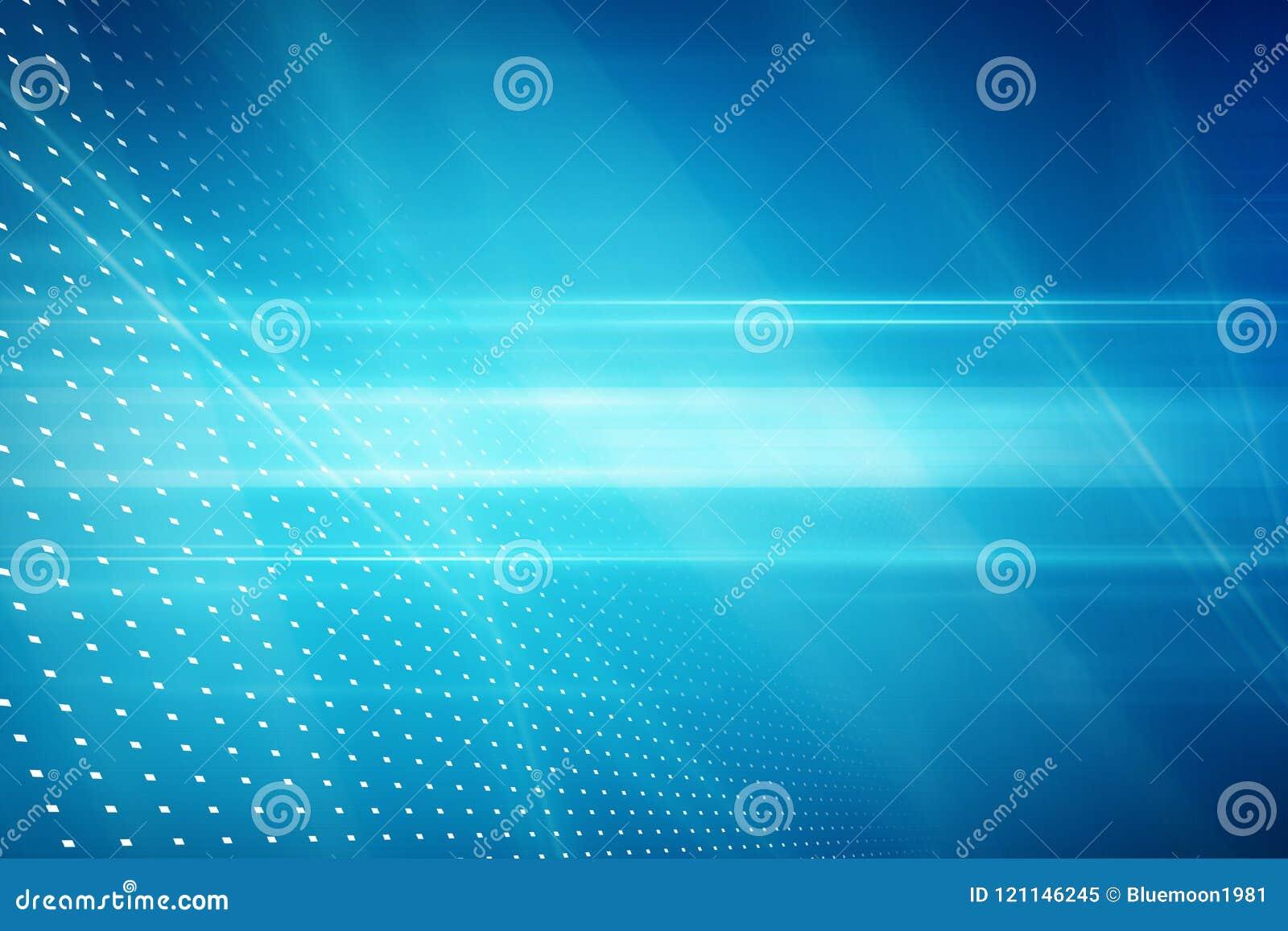 图解抽象技术背景,在蓝色后面的光线