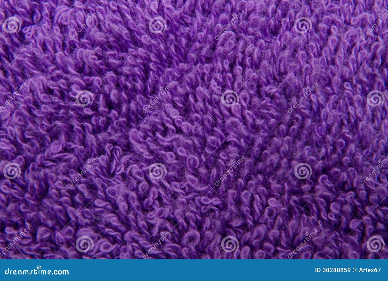 图象背景紫色毛巾纹理特写镜头