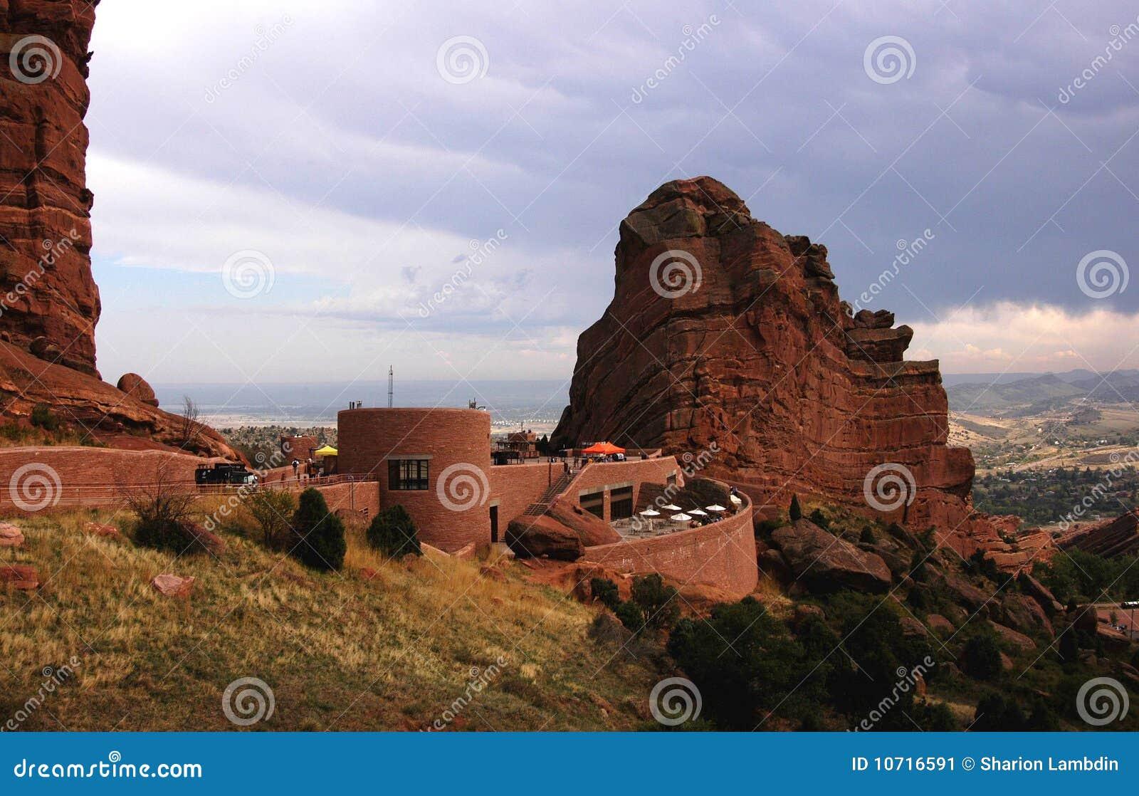 圆形剧场红色岩石