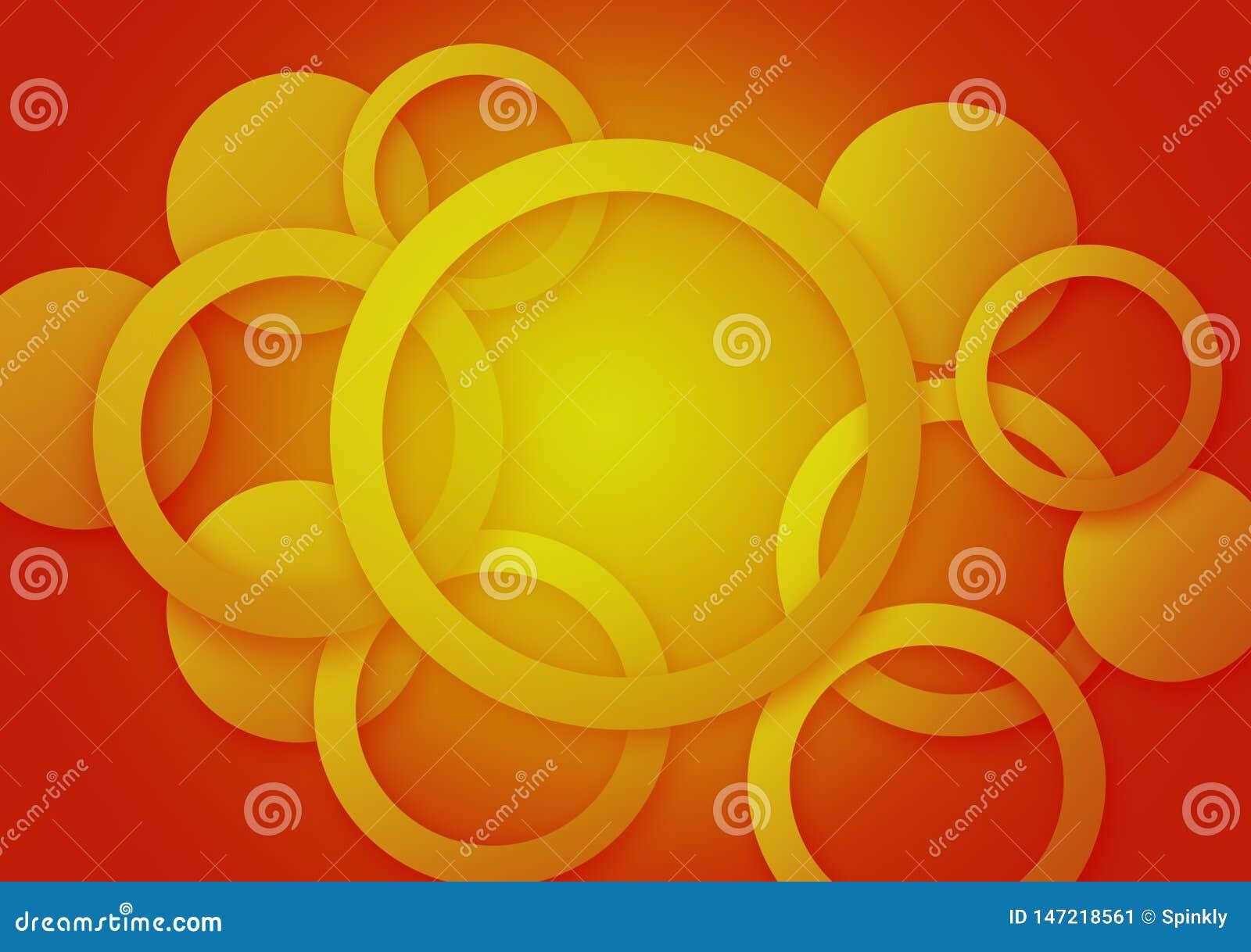 圆橙黄背景织地不很细墙纸设计