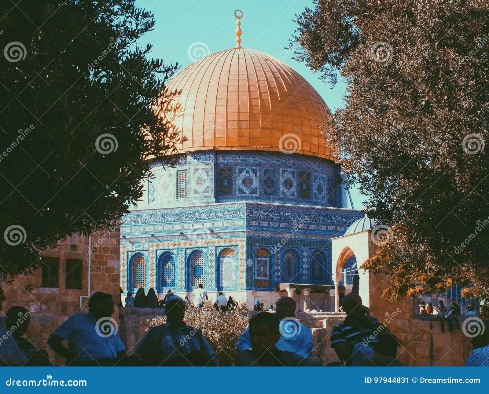 圆顶耶路撒冷老岩石sity
