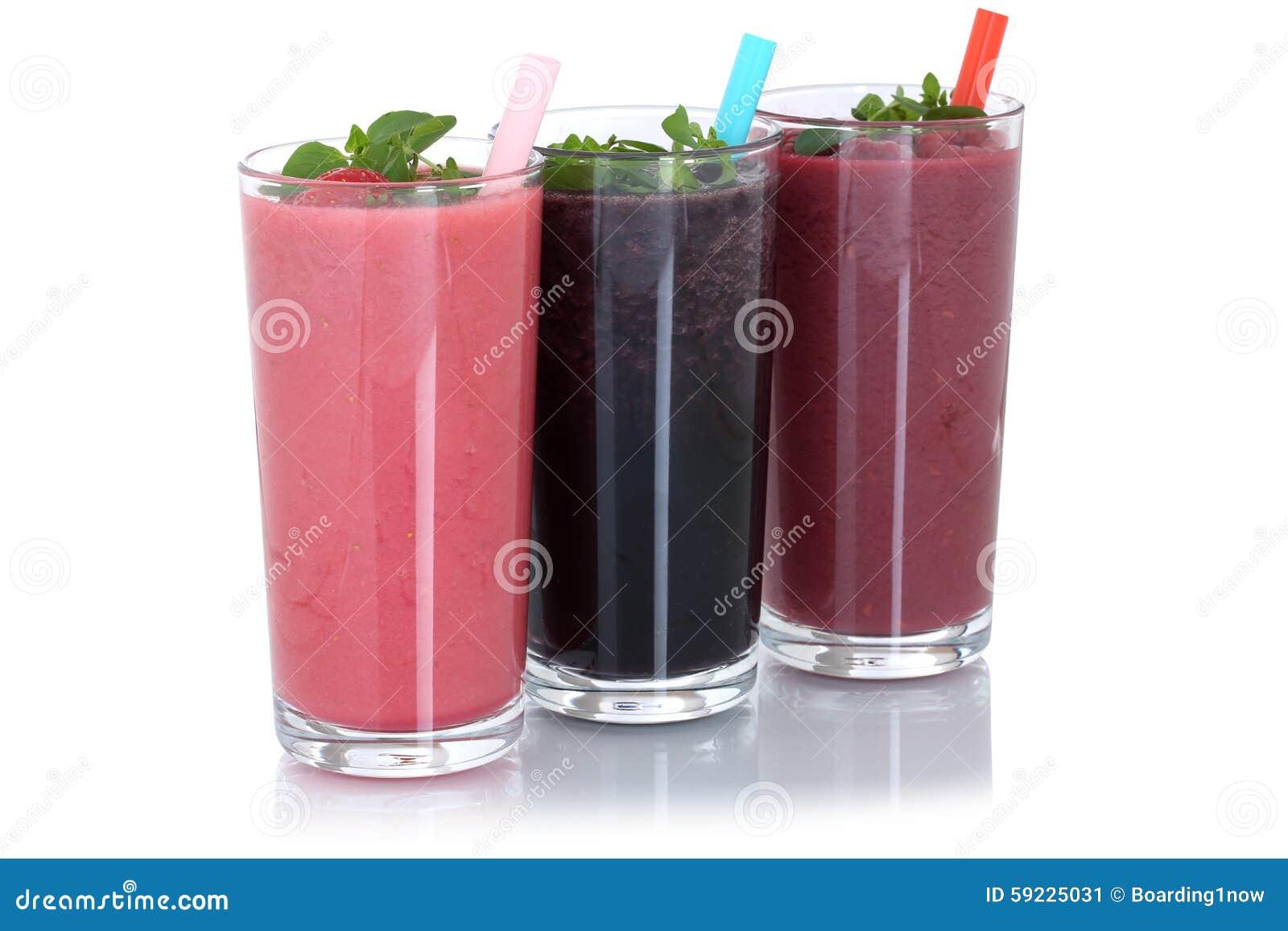 圆滑的人果汁奶昔用被隔绝的果子