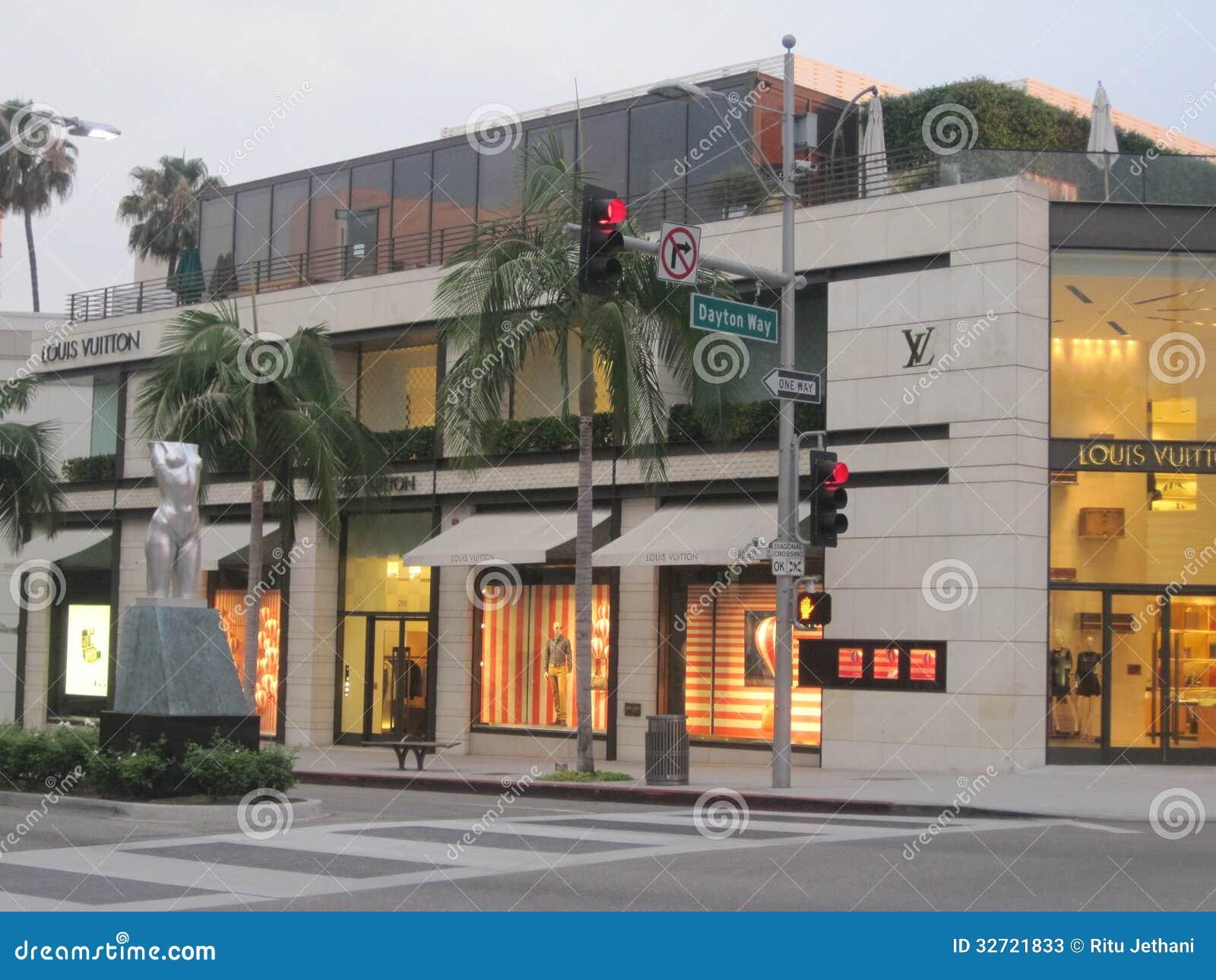 圈地驱动的路易威登商店在比佛利山