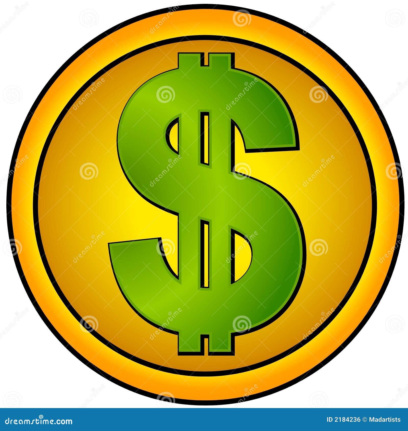 圈子美元金图标符号