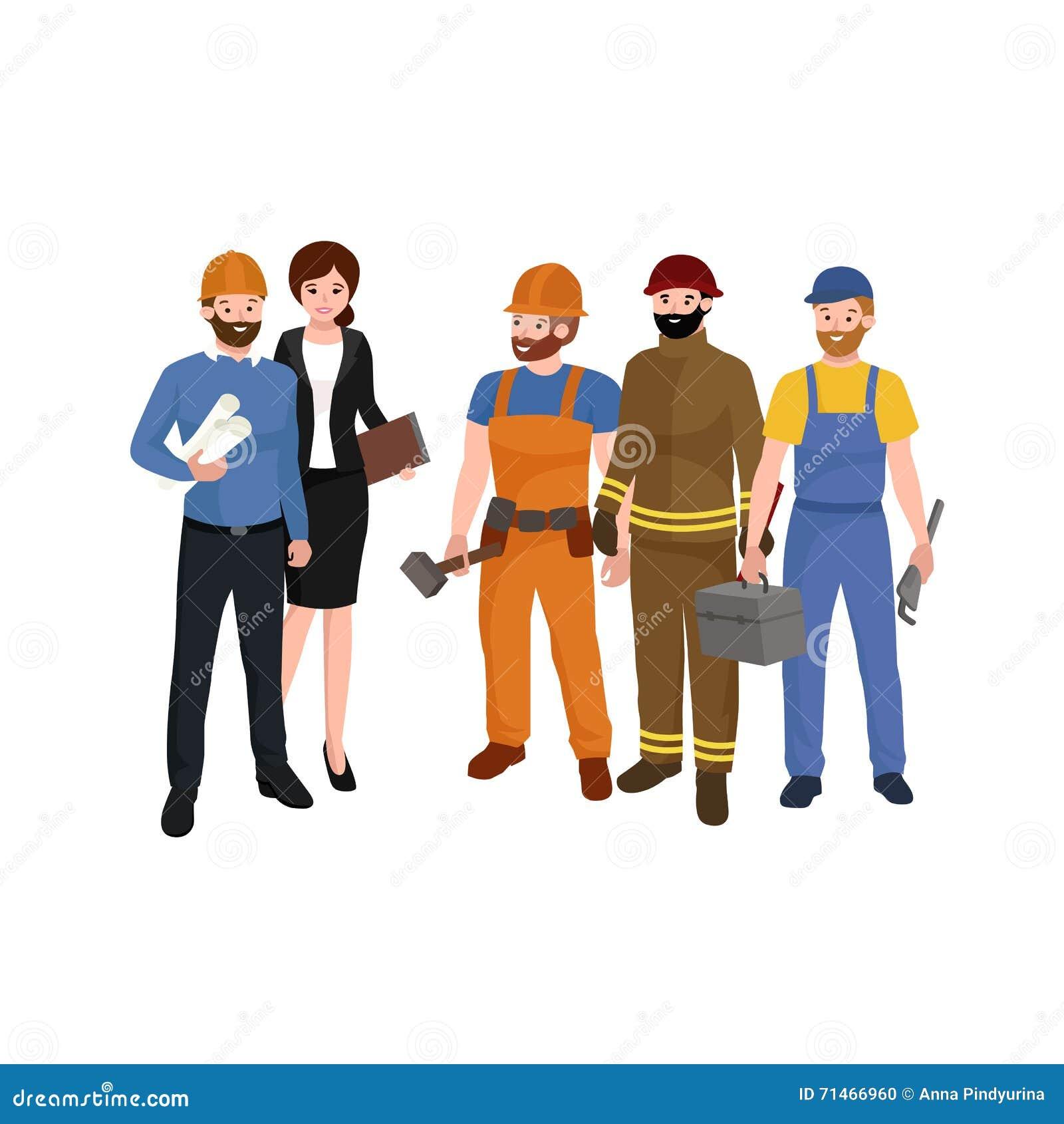 土木建筑工程师考�_土木工程师,建筑师和建筑工人字符小组 凉快的传染媒介平的设计建筑队