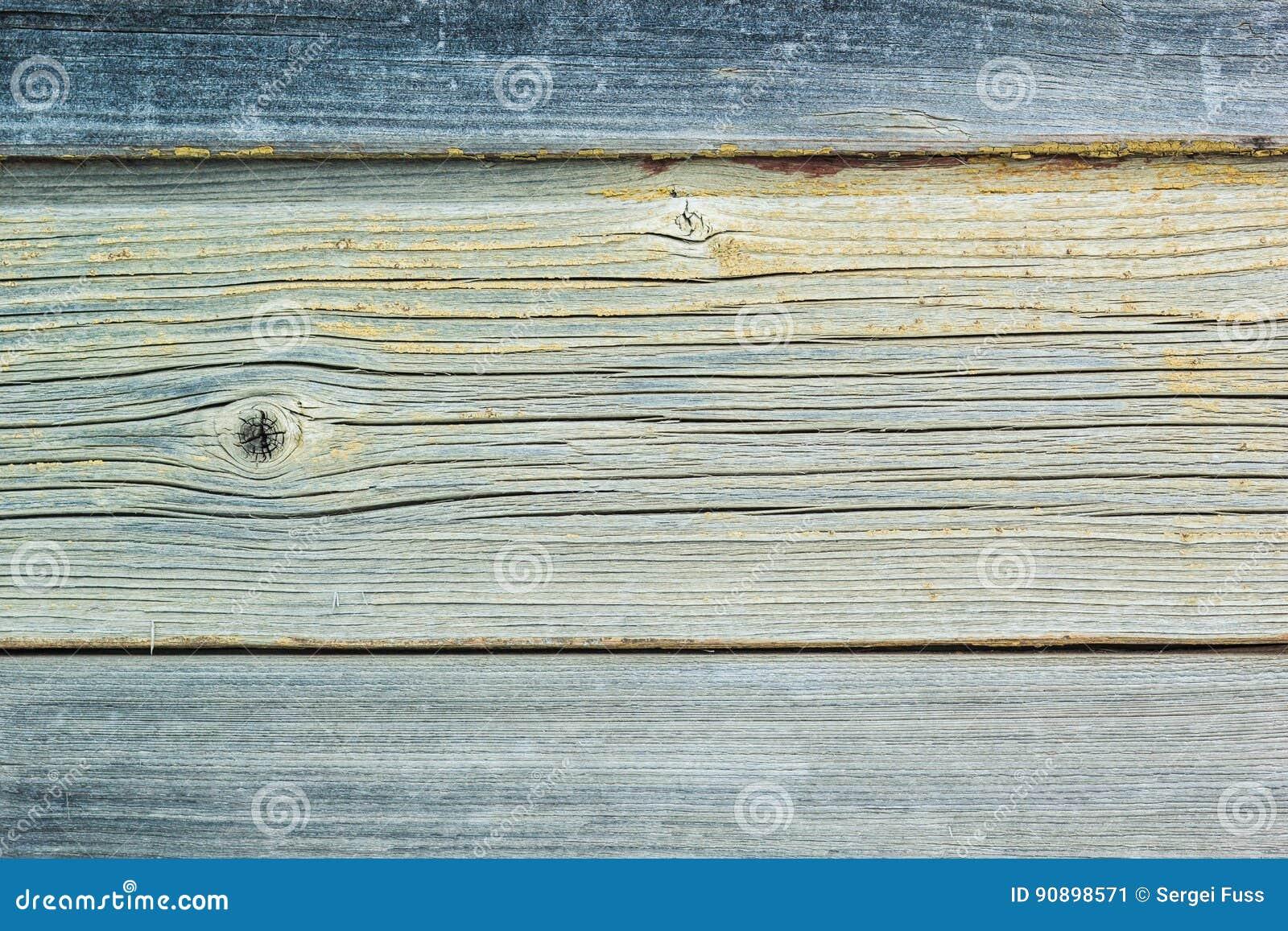土气与退色的油漆的葡萄酒木墙壁板