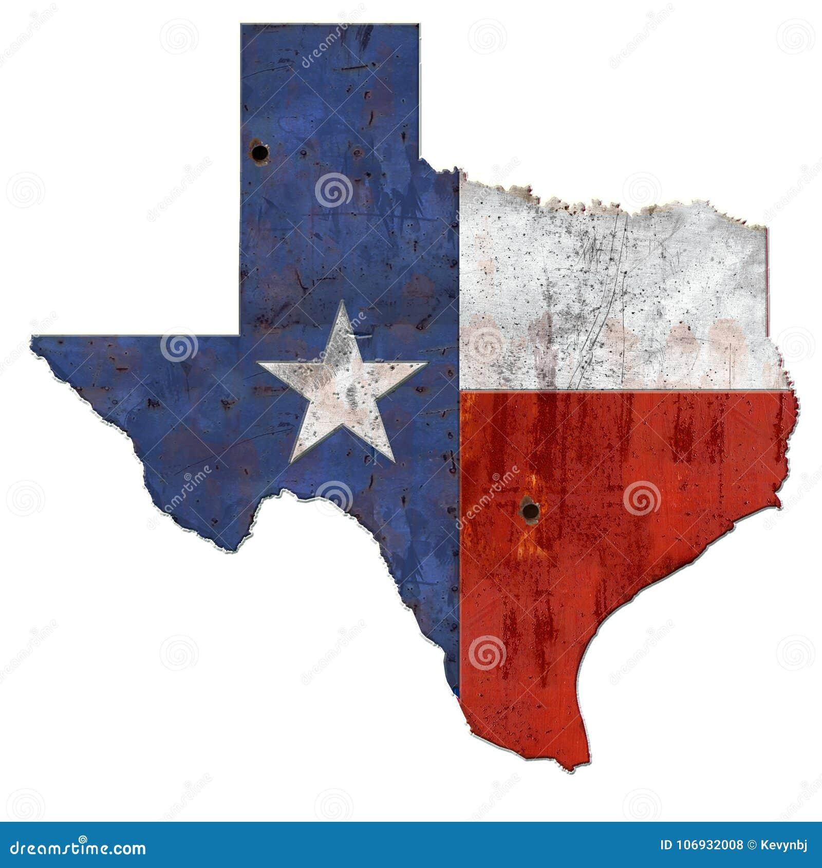 土气得克萨斯的旗子