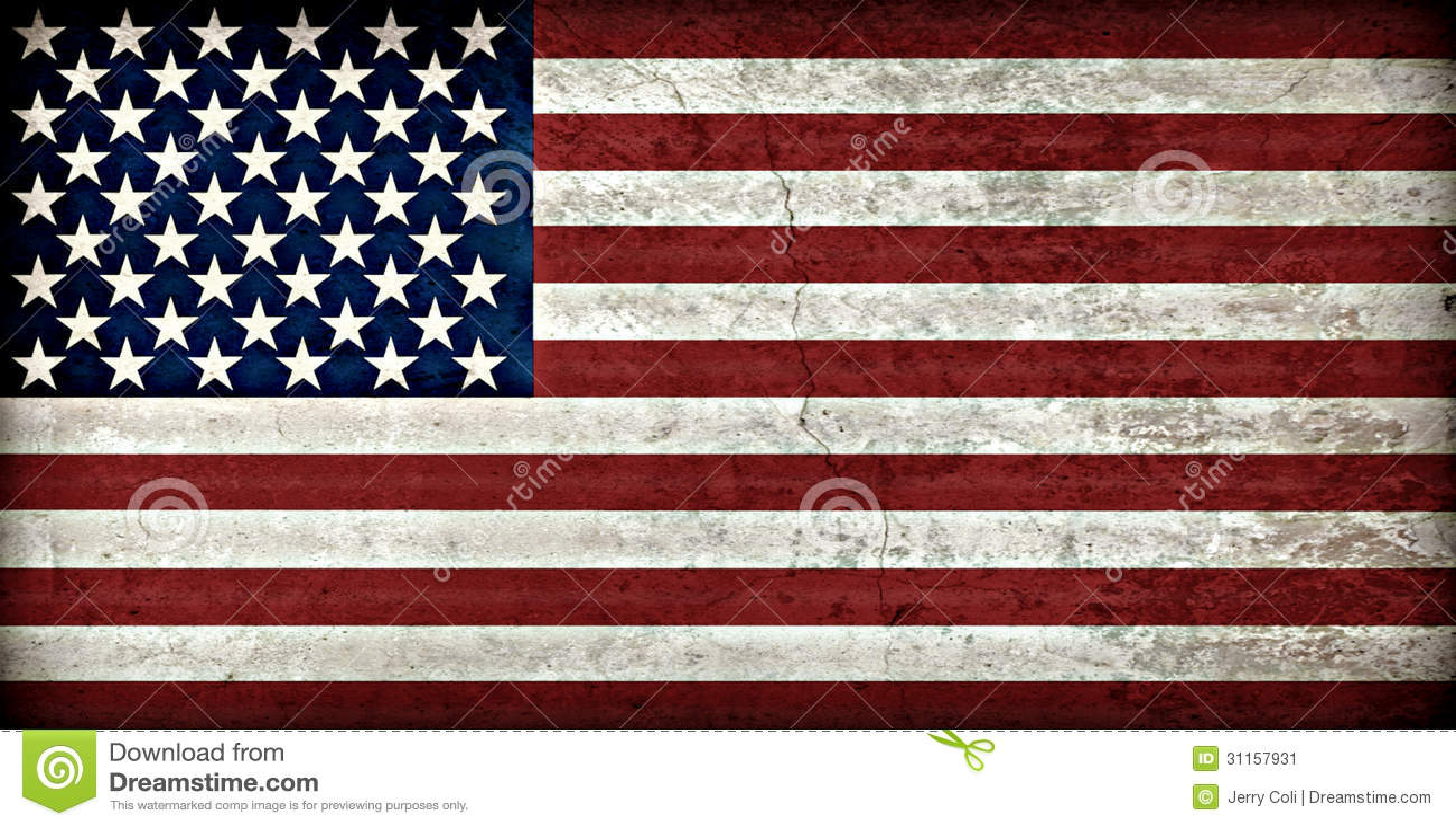 土气美国国旗