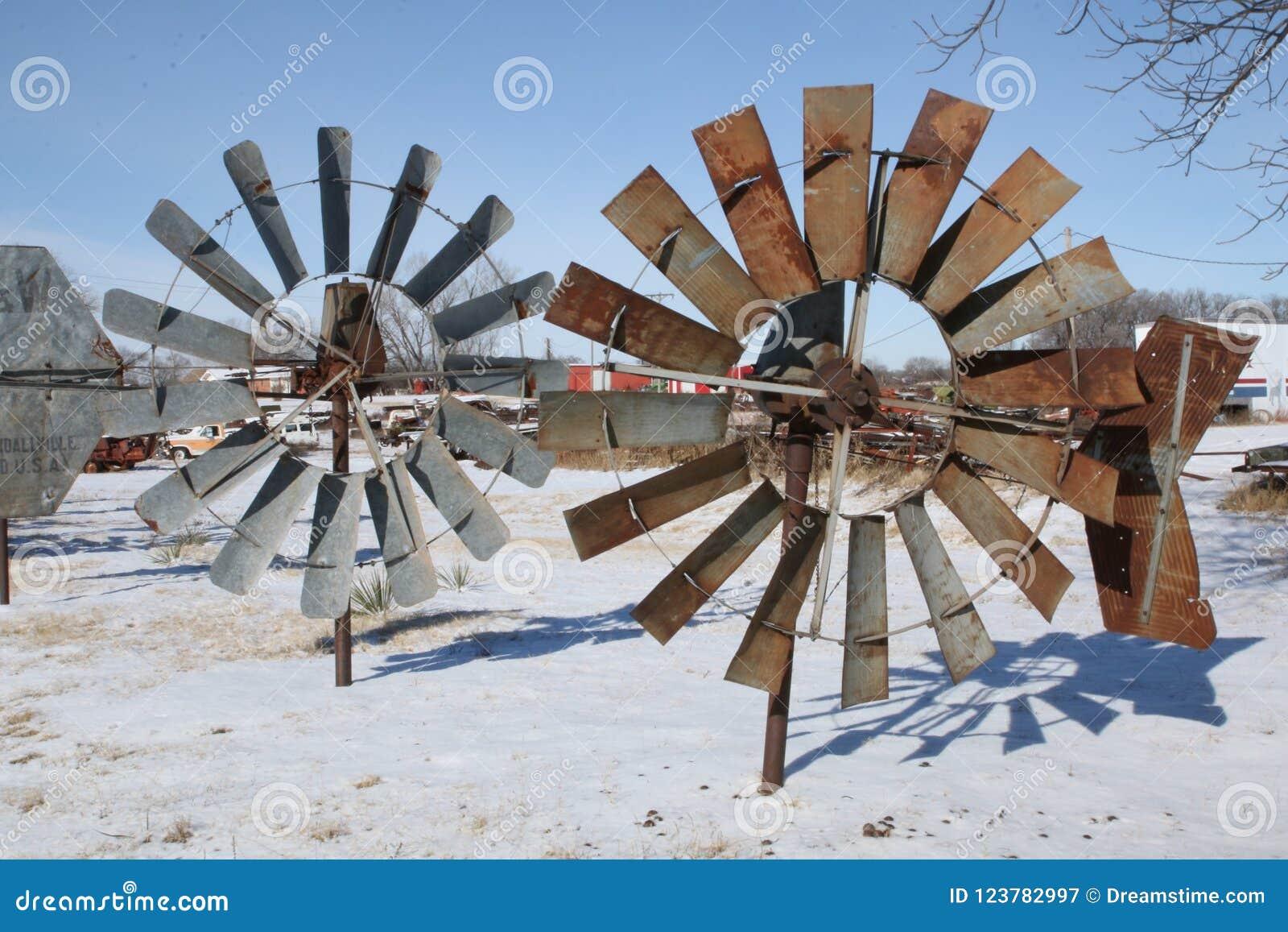 土气风车在得克萨斯