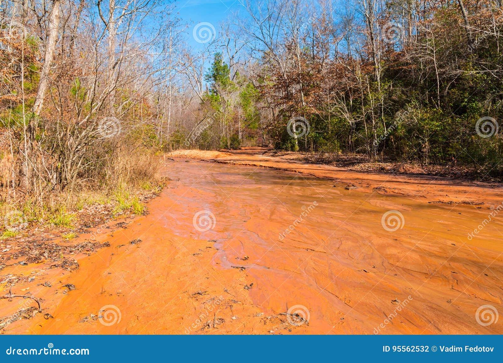 黏土河道在上帝峡谷国家公园,乔治亚,美国