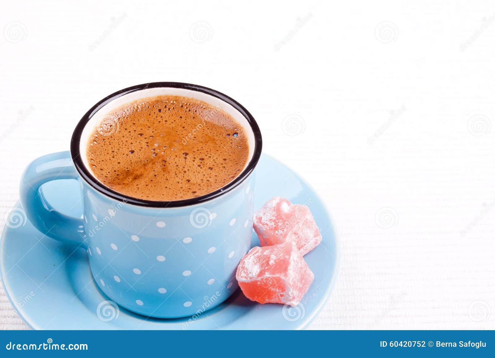 土耳其咖啡和土耳其快乐糖