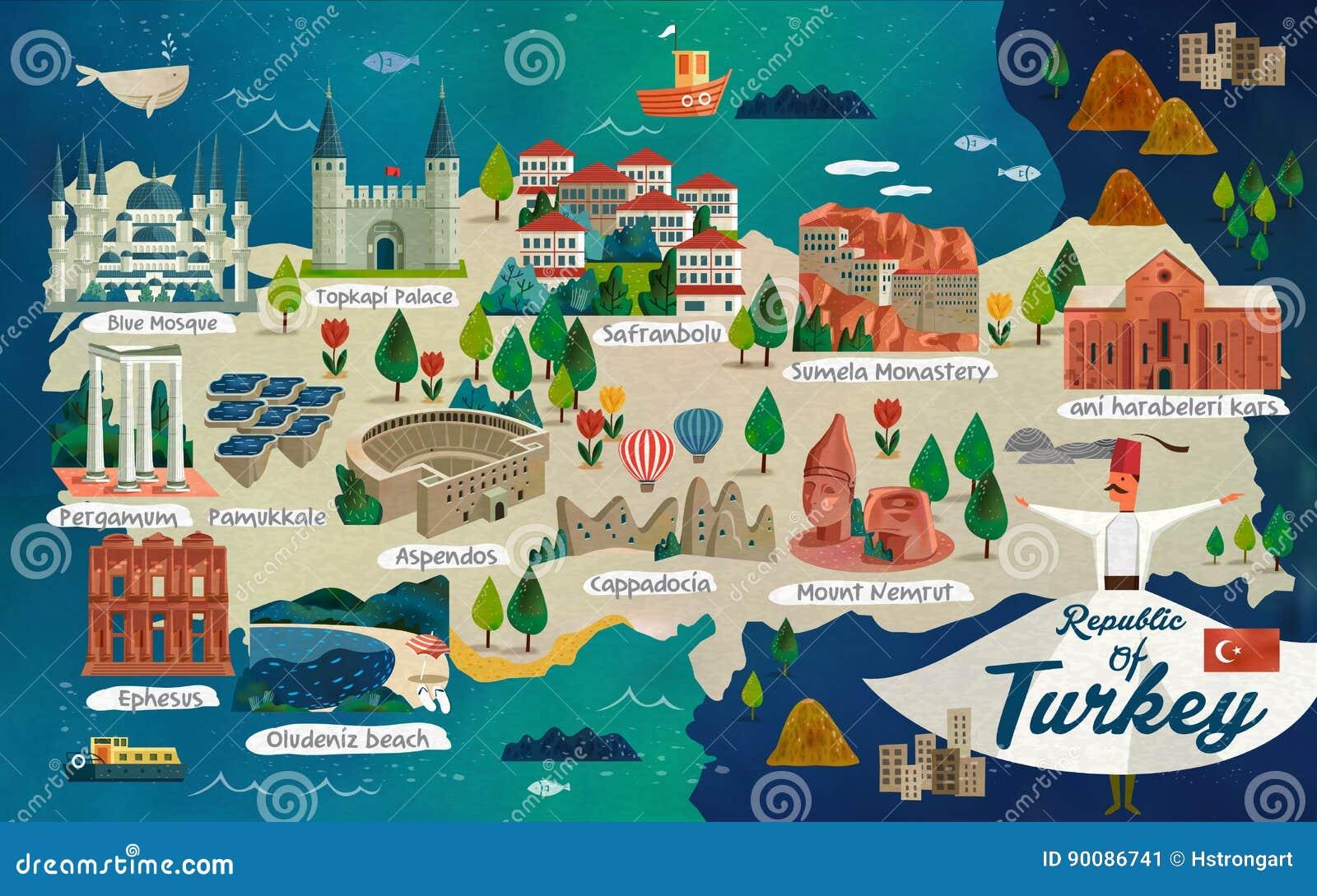 土耳其旅行地图