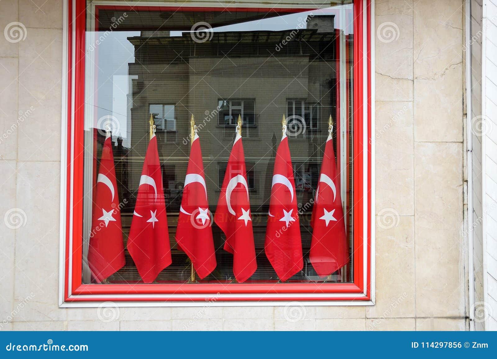 土耳其旗子在安卡拉