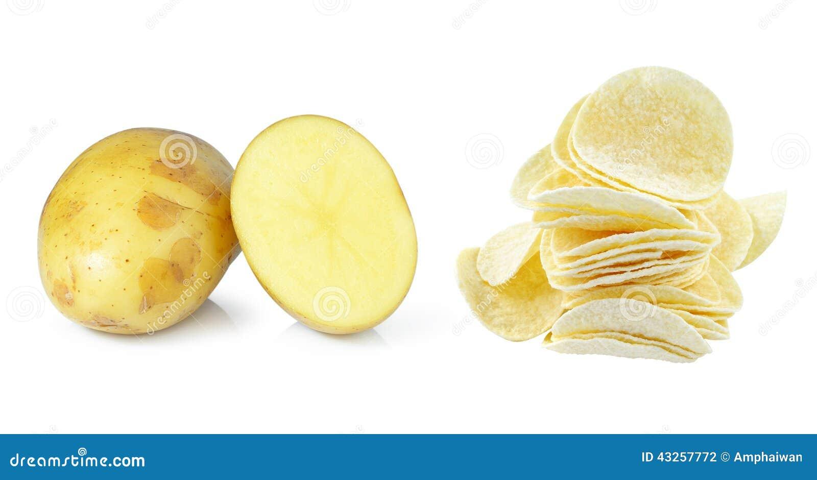 土豆和土豆片 库存照片 - 图片: 43257772图片