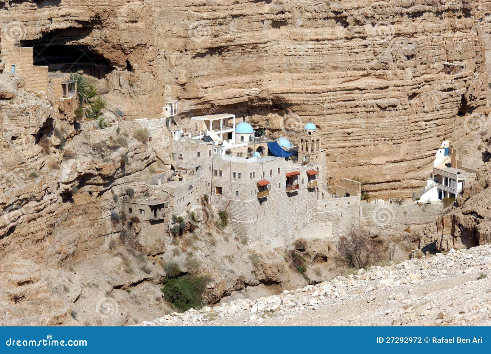 圣乔治的修道院在Judea沙漠以色列