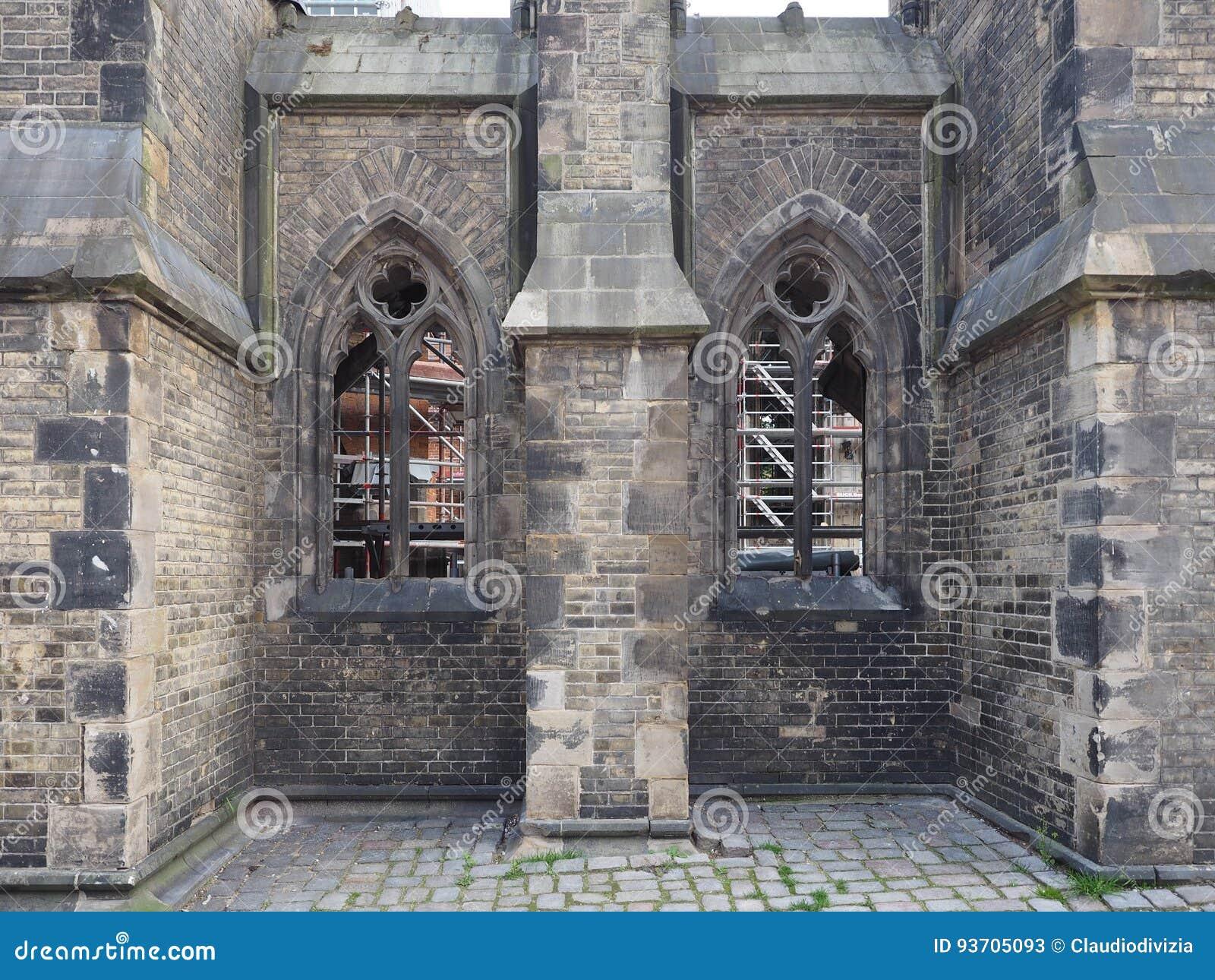 圣尼古拉斯教会废墟在汉堡