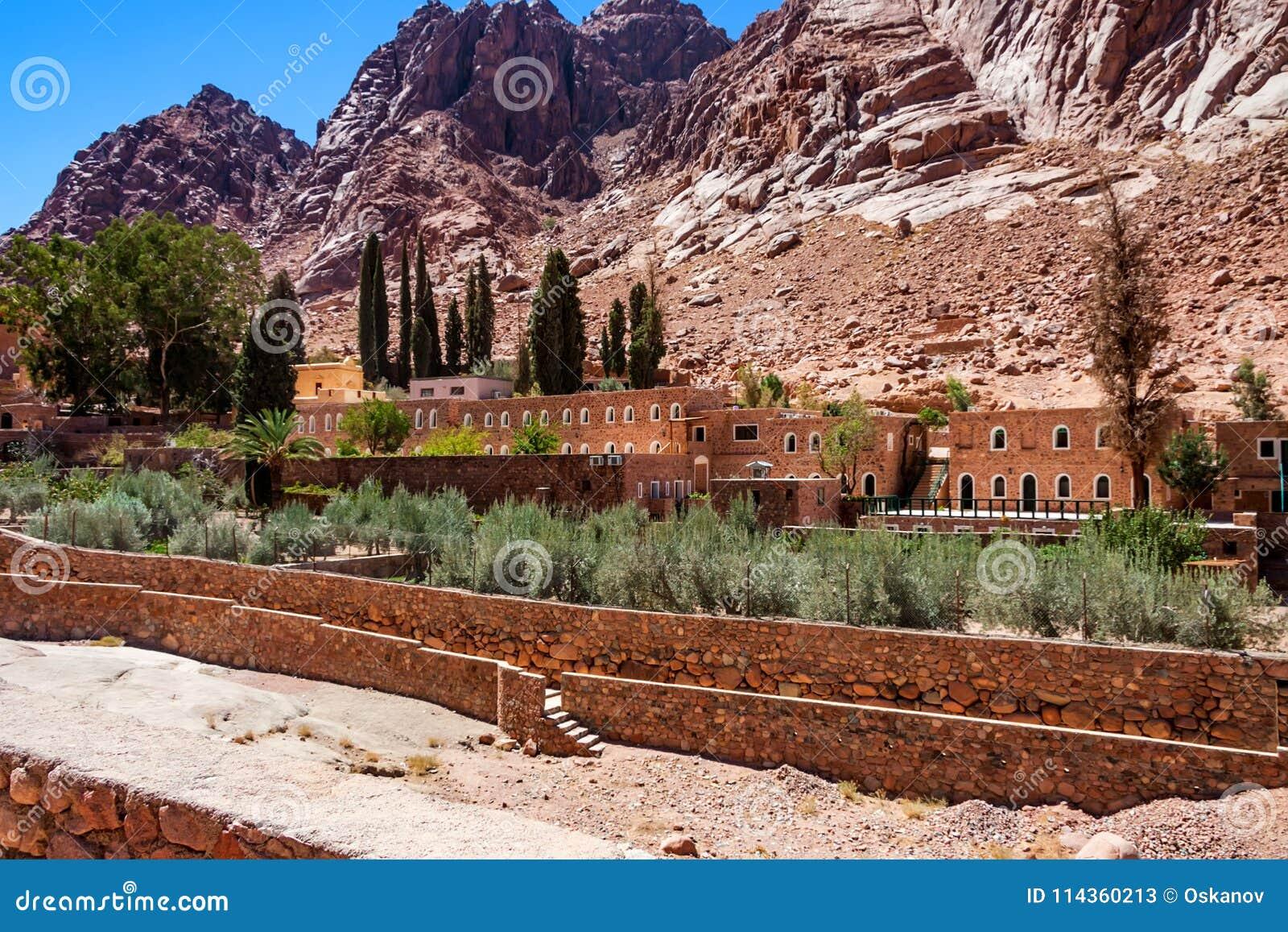 圣徒凯瑟琳` s修道院,西奈,埃及看法