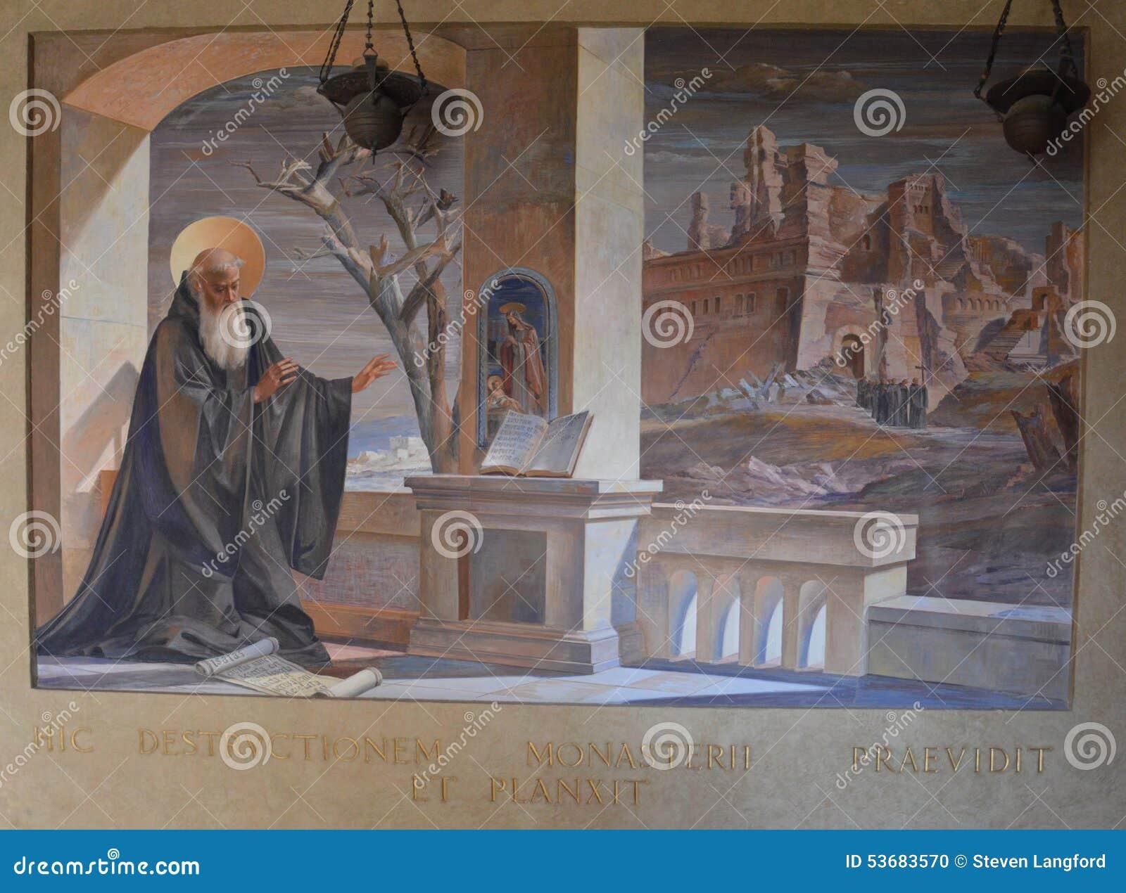 圣徒本尼迪克特壁画