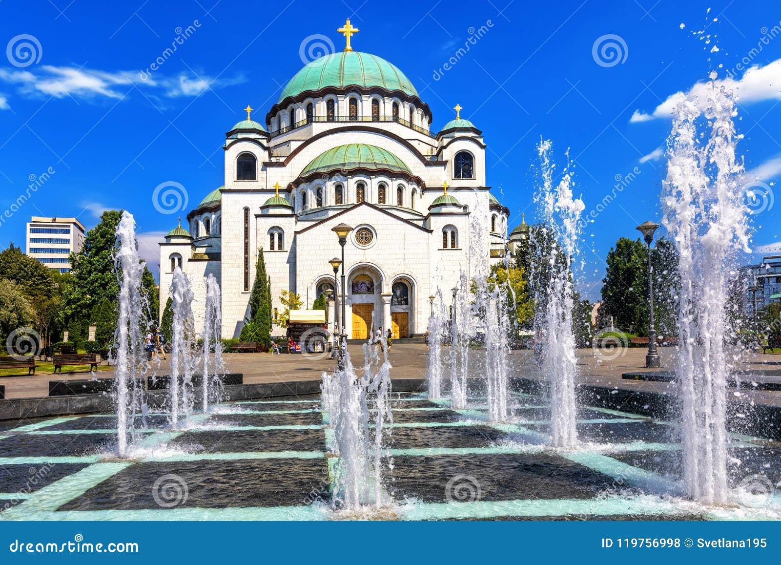 圣徒Sava大教堂在贝尔格莱德,塞尔维亚