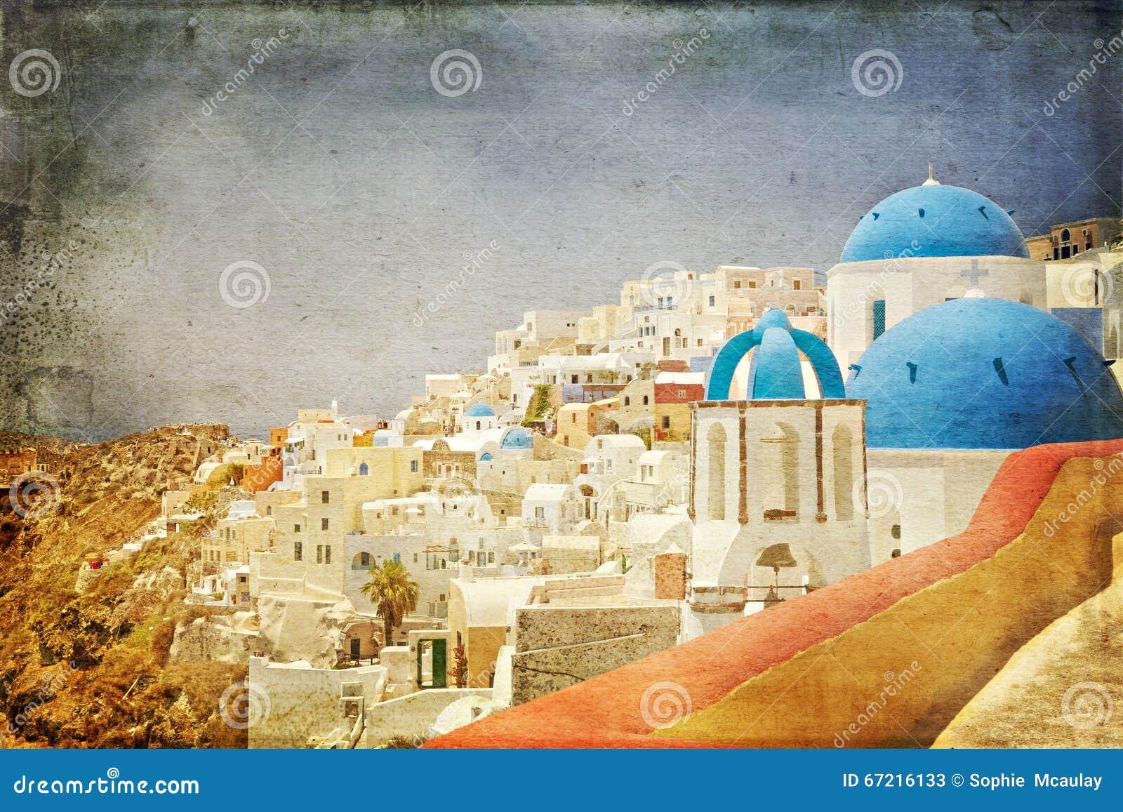 圣托里尼建筑学被称呼的葡萄酒纸