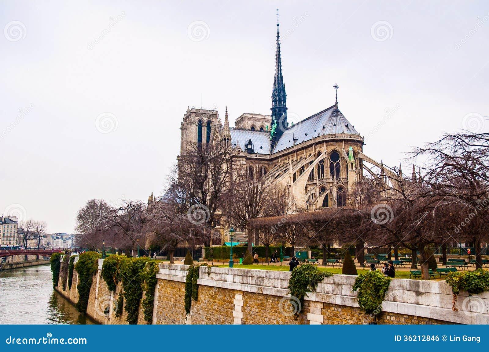 巴黎圣母院大教堂,法国.