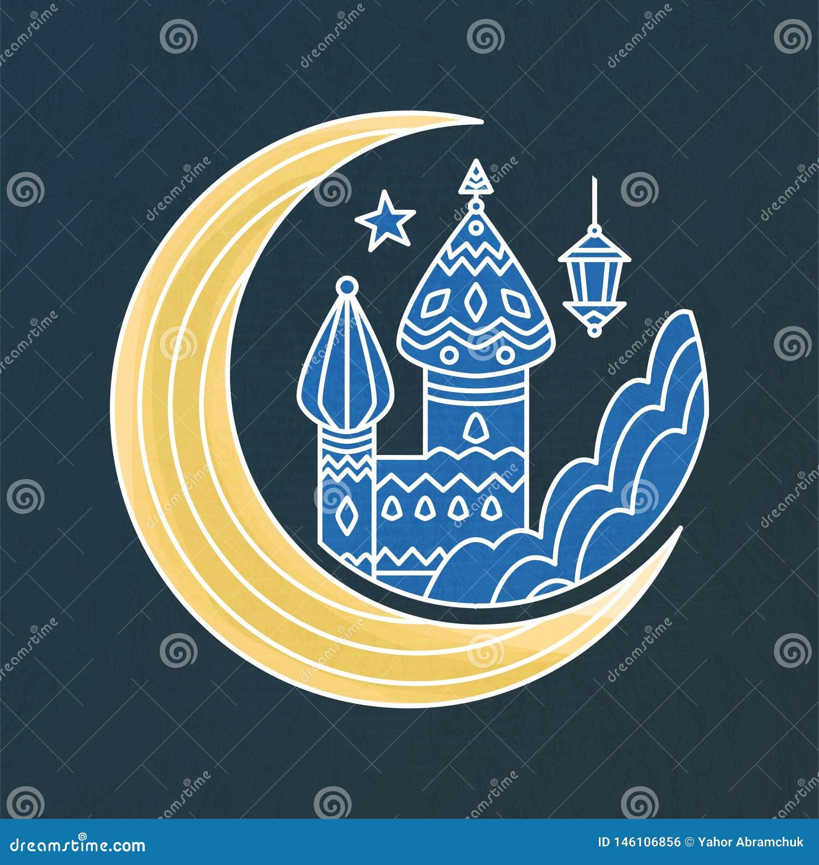 圣洁回教回教伊斯兰教的阿拉伯斋月宗教传染媒介