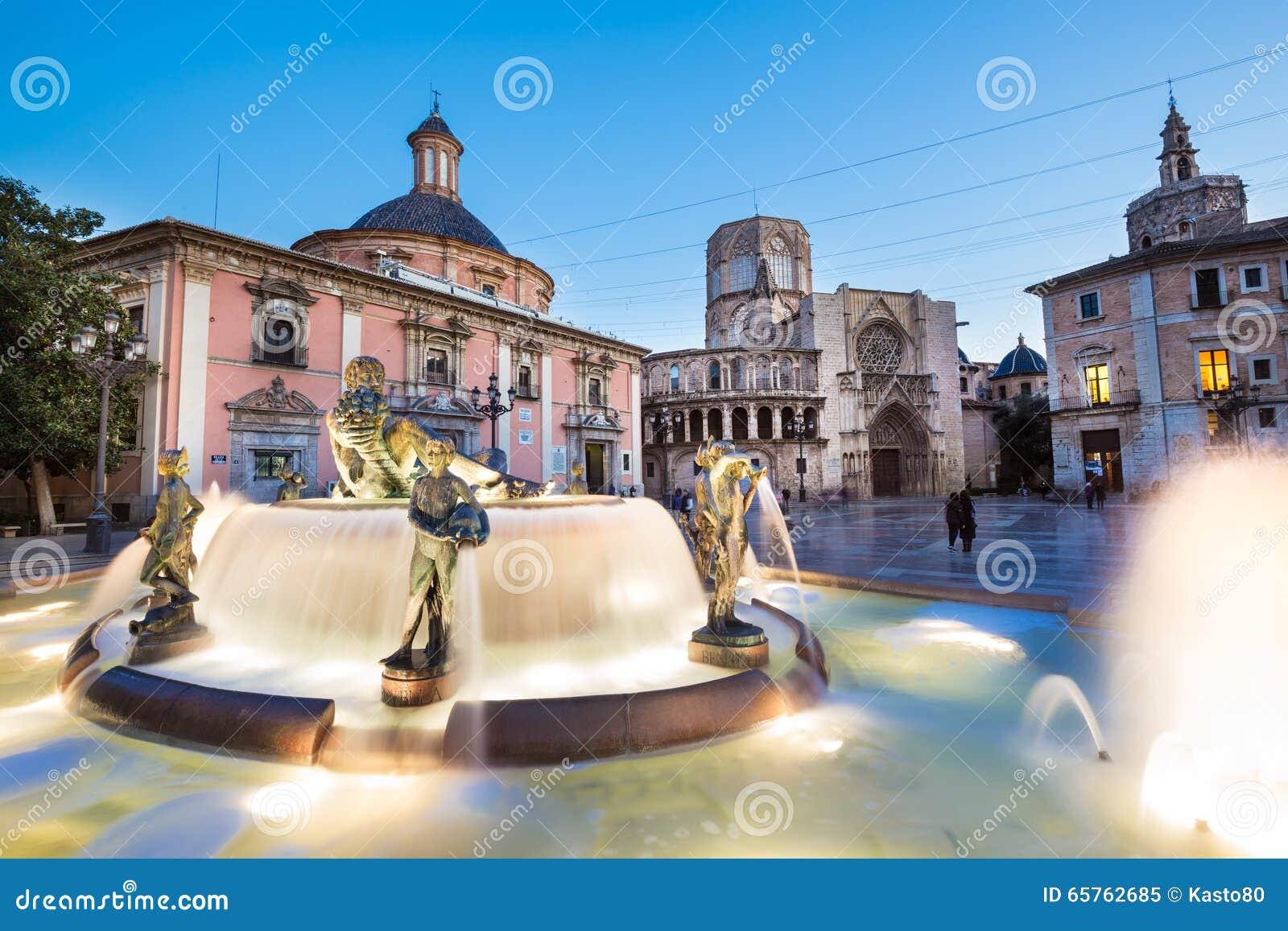 圣玛丽的,巴伦西亚,西班牙正方形