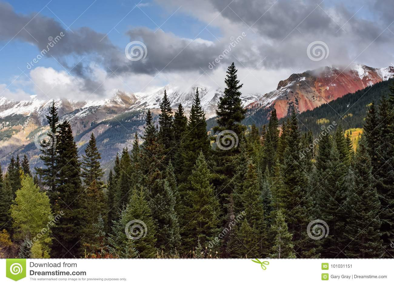 圣胡安山在科罗拉多