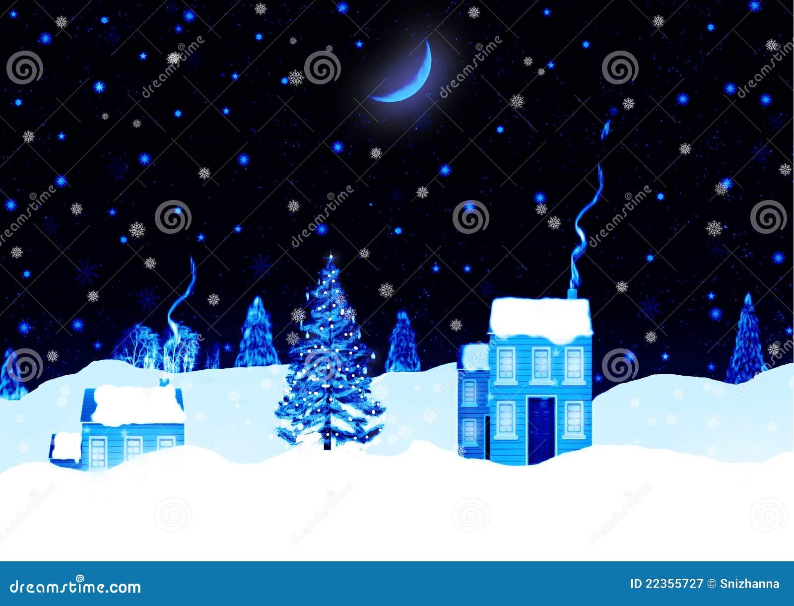 圣诞夜横向背景