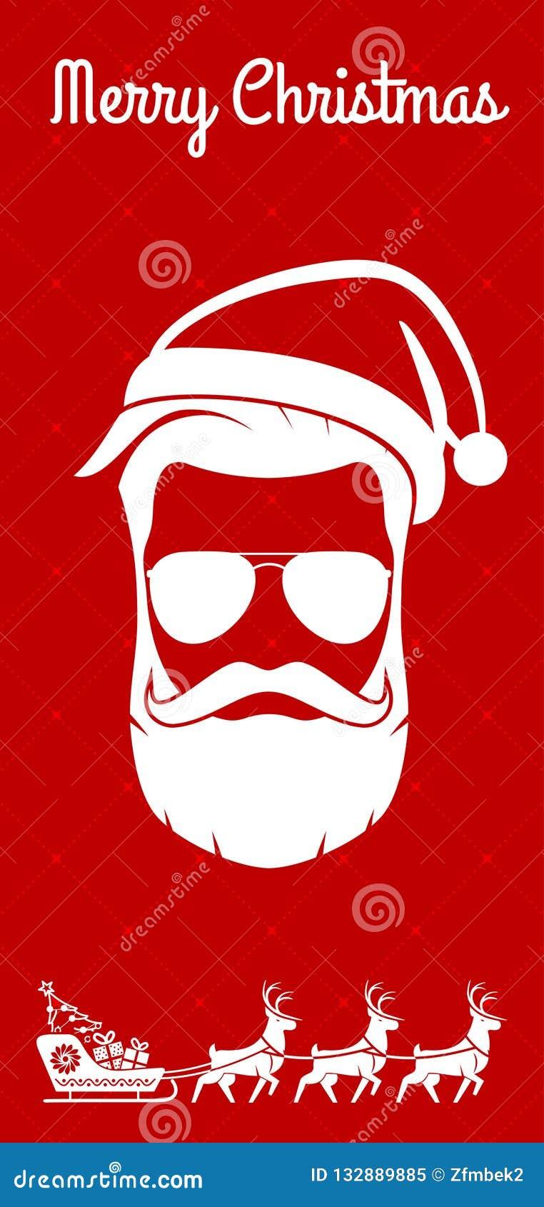 圣诞快乐贺卡、飞行物或者海报设计 也corel凹道例证向量