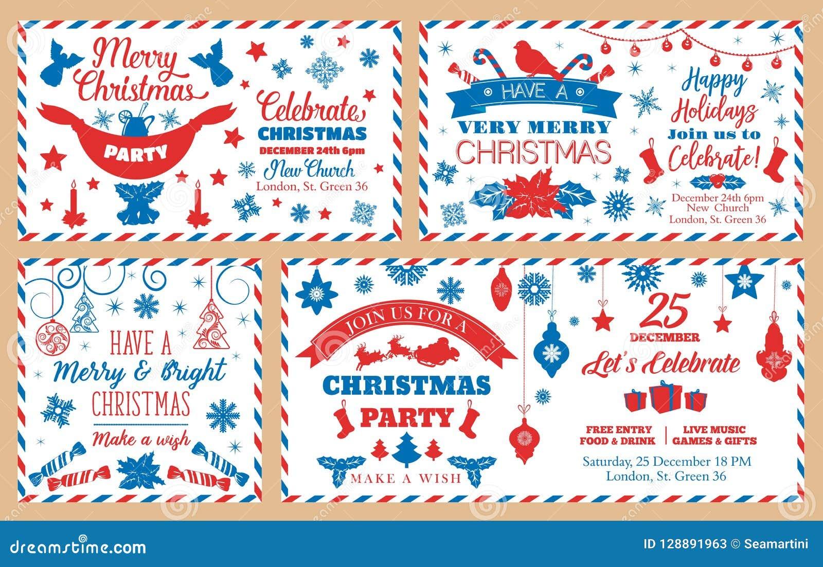 圣诞晚会信封,假日装饰