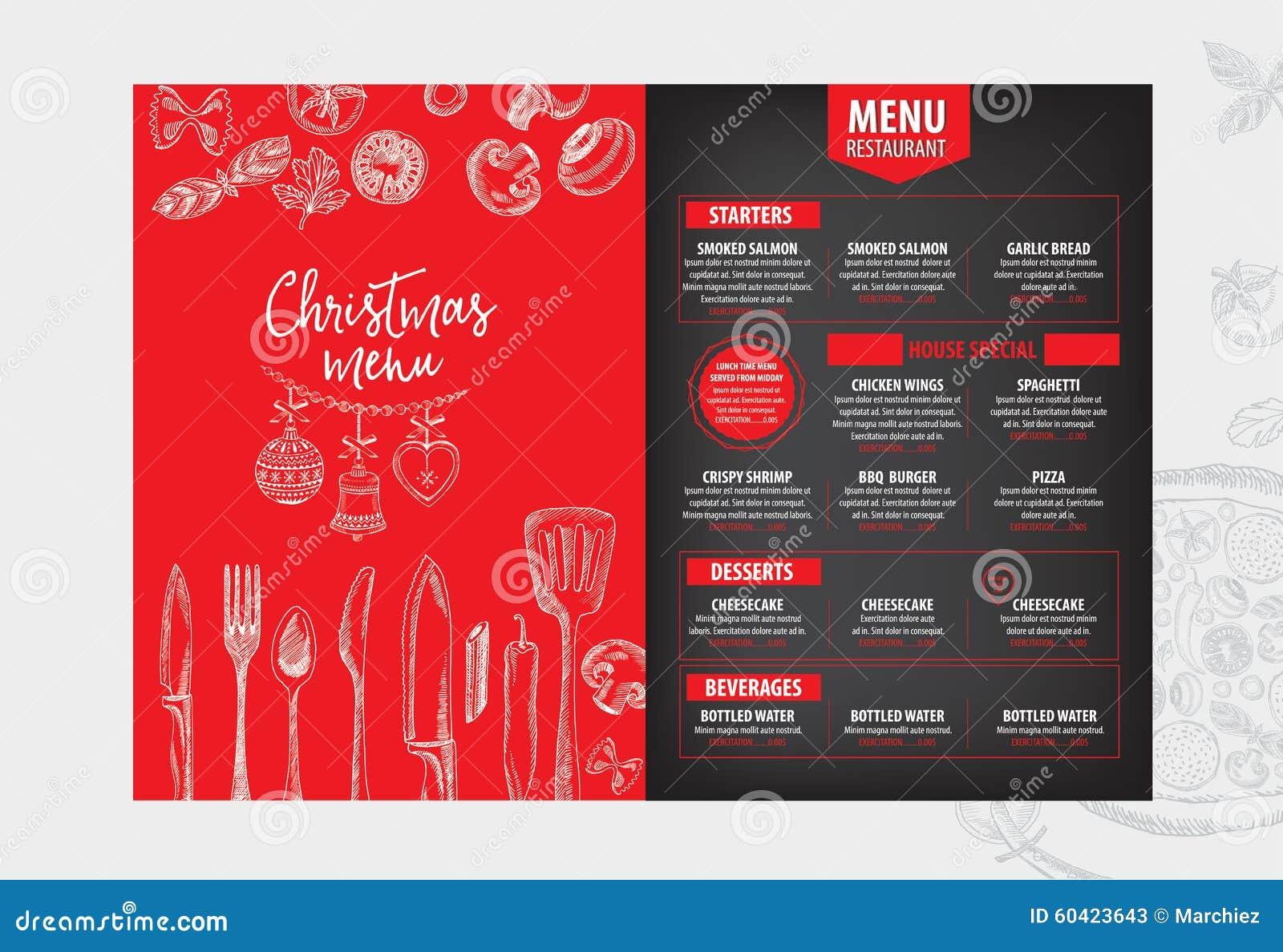 圣诞晚会邀请餐馆 食物飞行物
