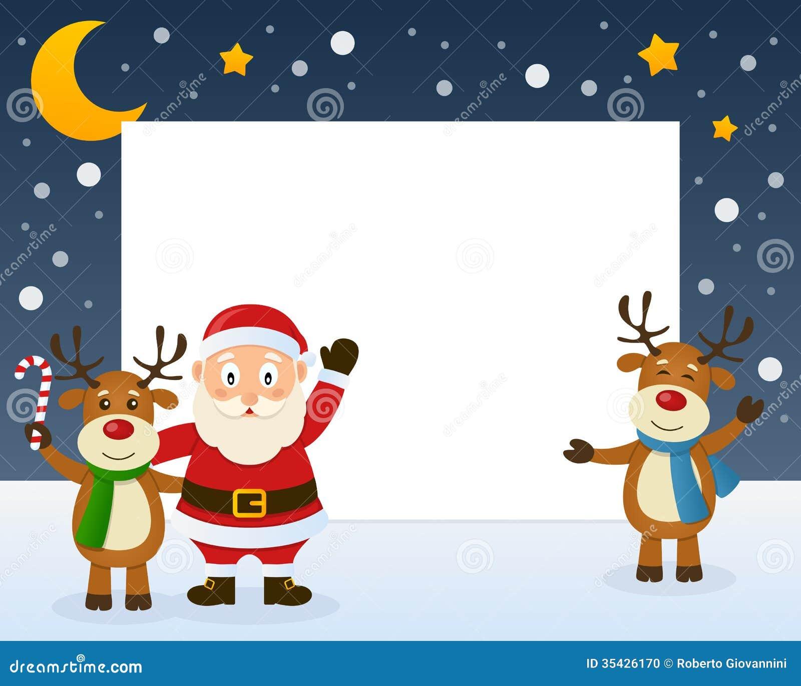 圣诞老人和驯鹿框架