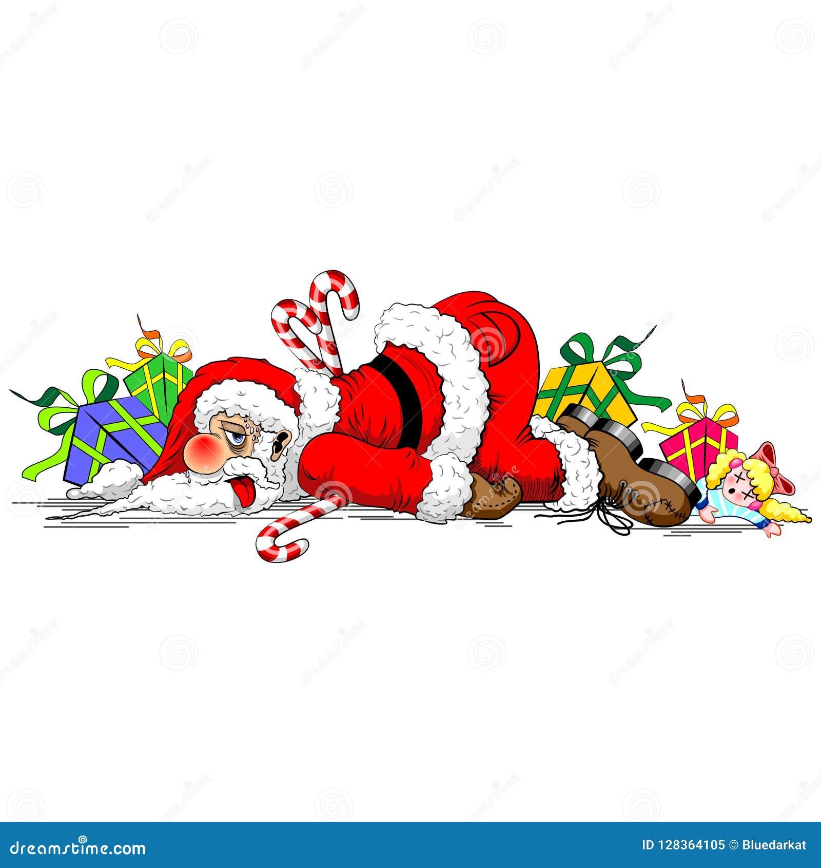 圣诞老人用尽了滑稽的字符