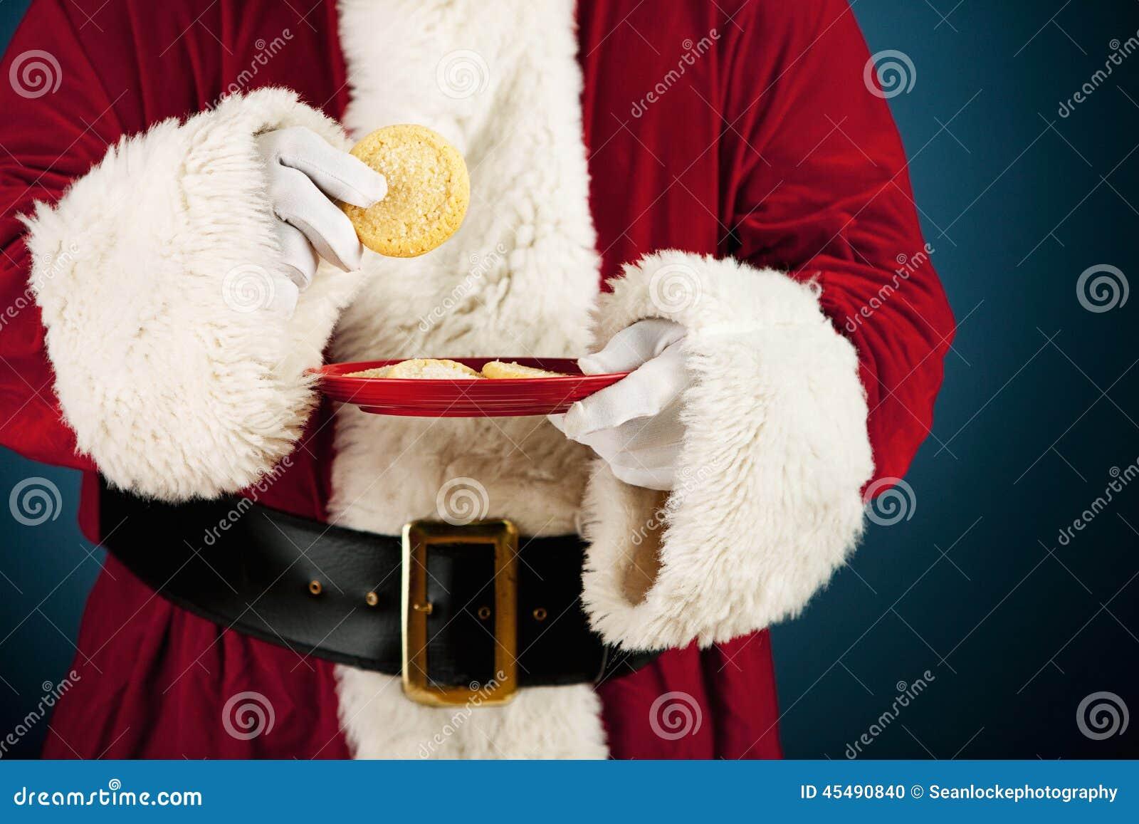 圣诞老人:食用糖屑曲奇饼快餐