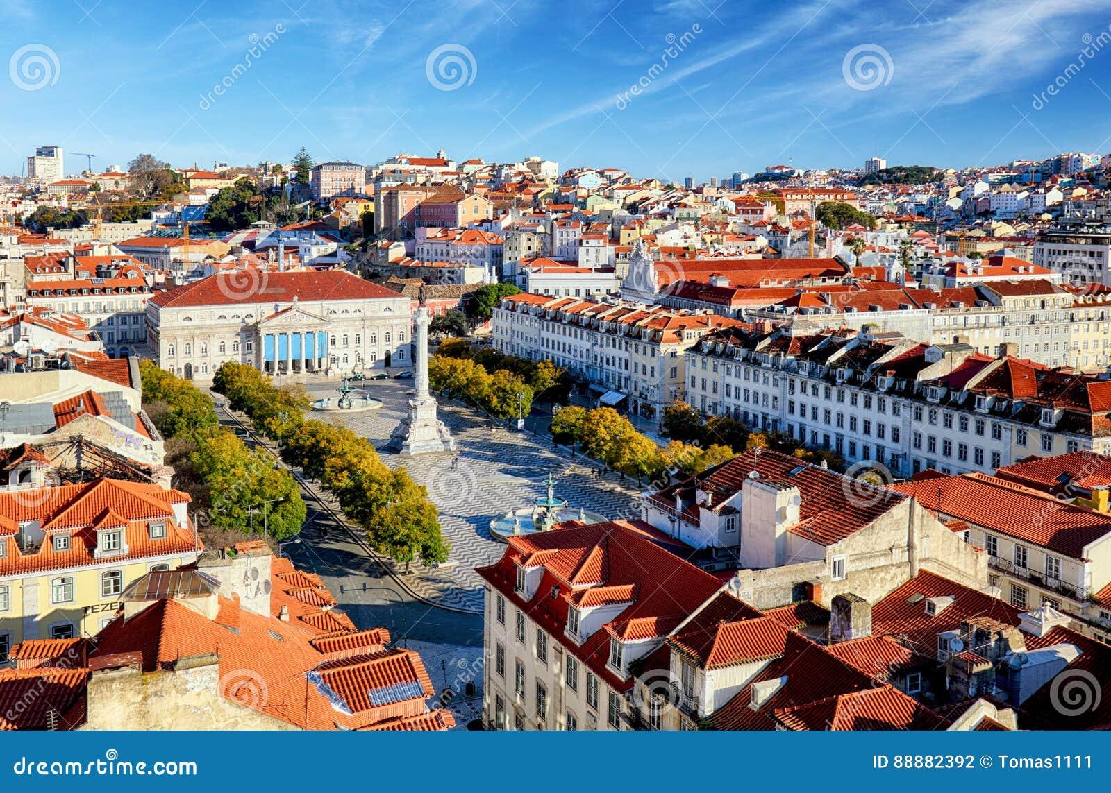 从圣诞老人Justa推力,葡萄牙的里斯本地平线