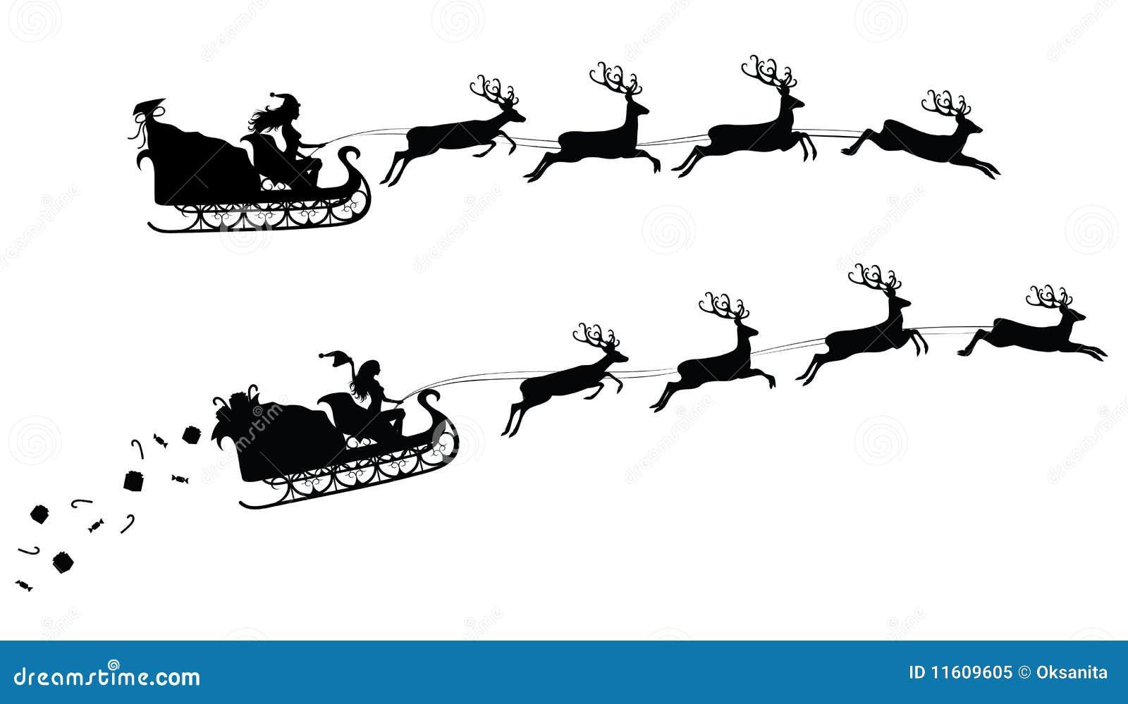 圣诞节剪影