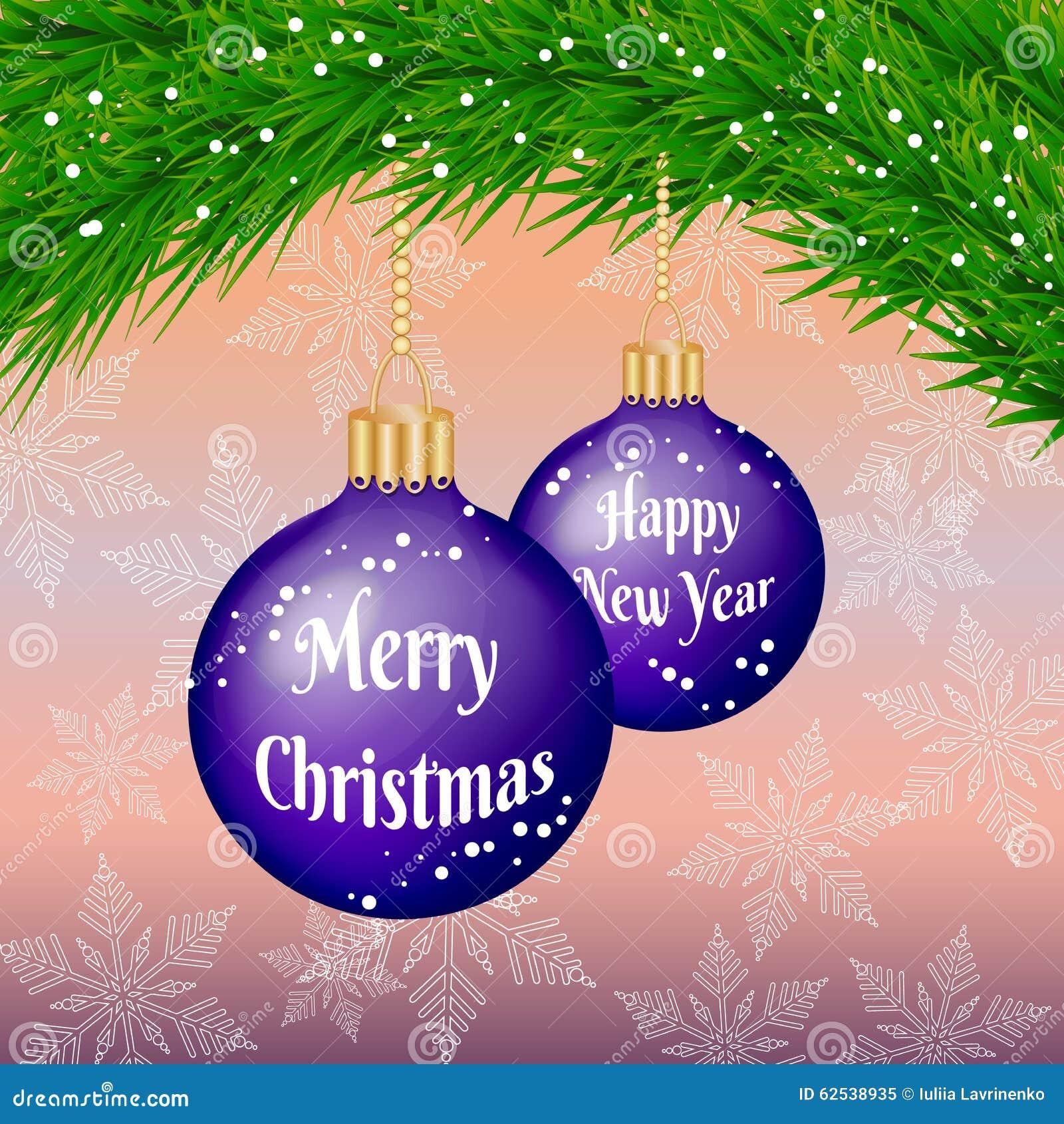 圣诞节和新年与中看不中用的物品和圣诞树的祝贺卡片