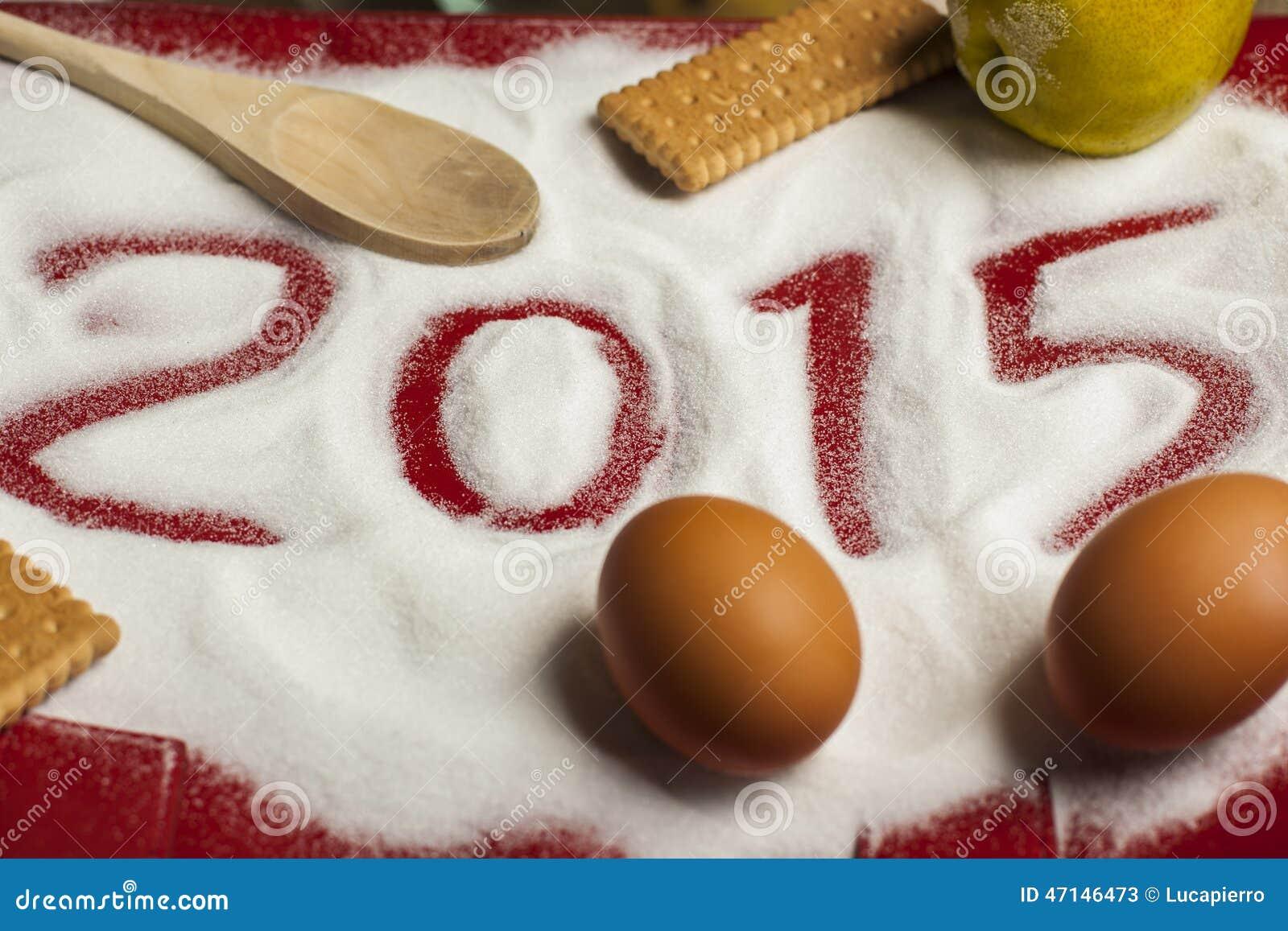 2015年圣诞节和新年食物问候