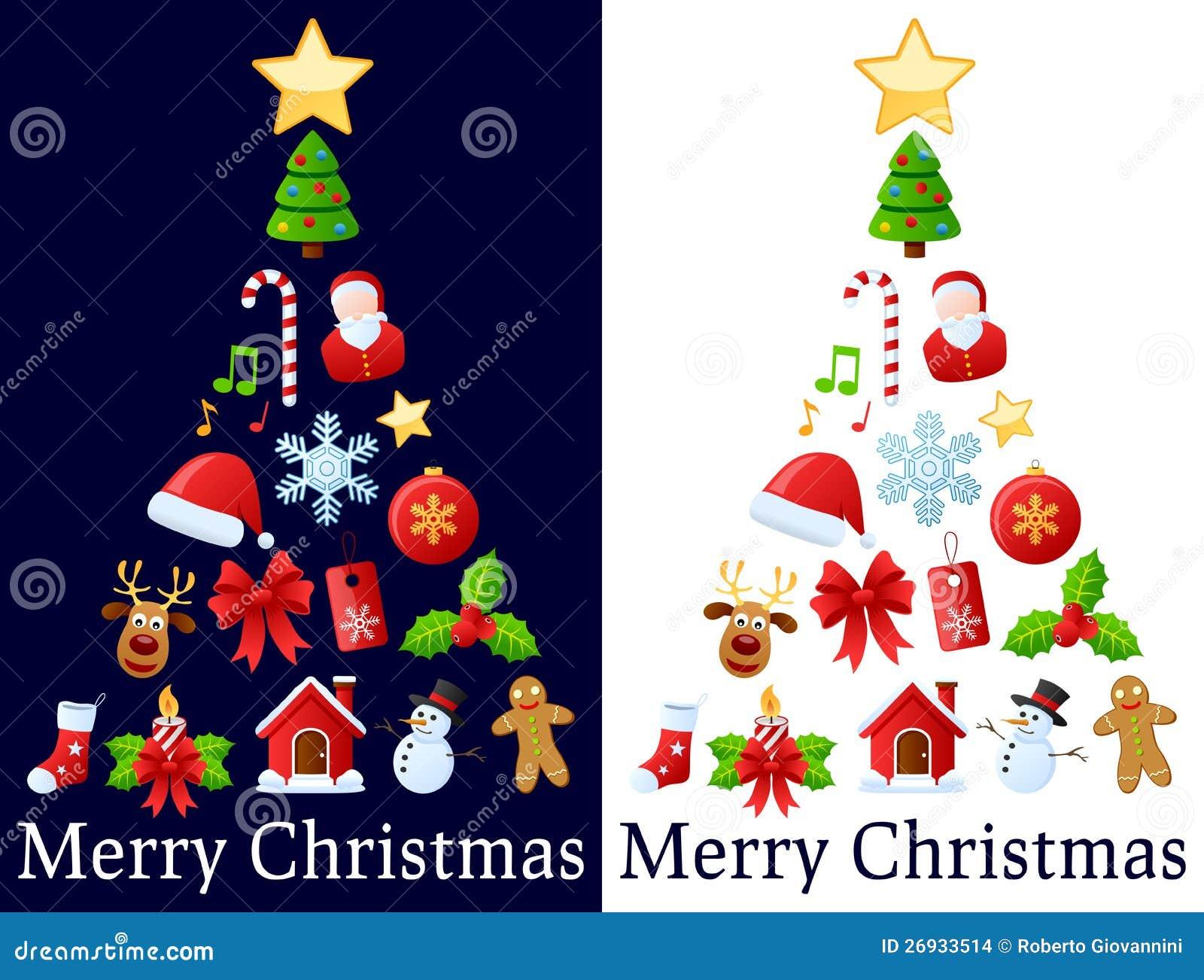 圣诞节图标结构树