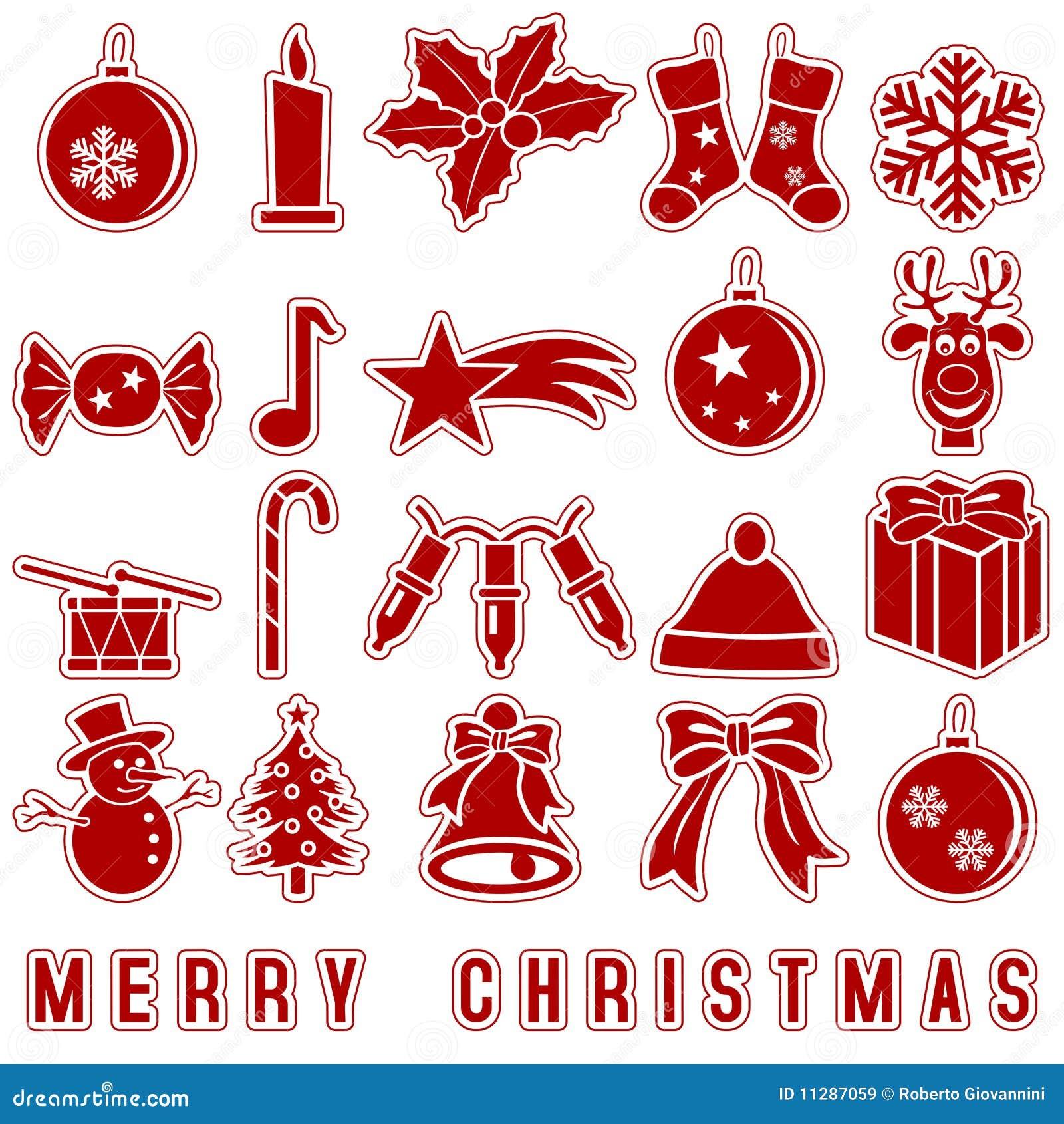 圣诞节图标贴纸
