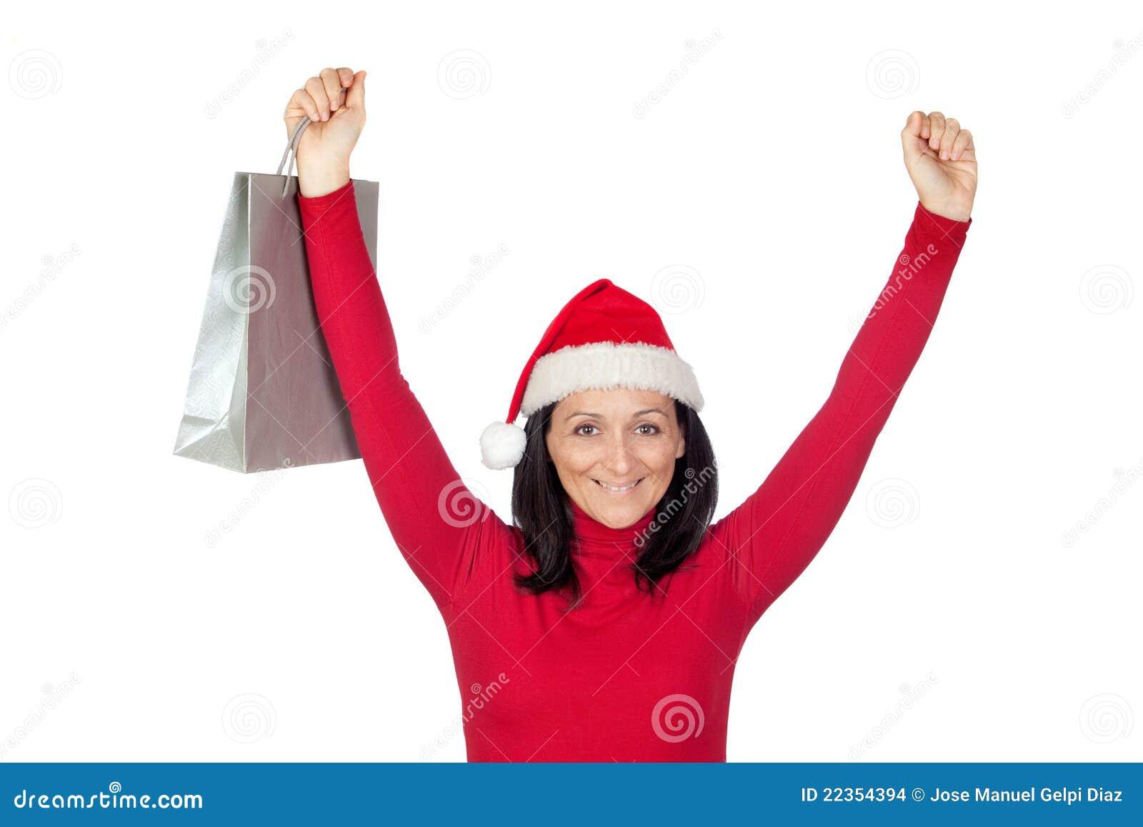 圣诞节女孩去帽子购物赢利地区